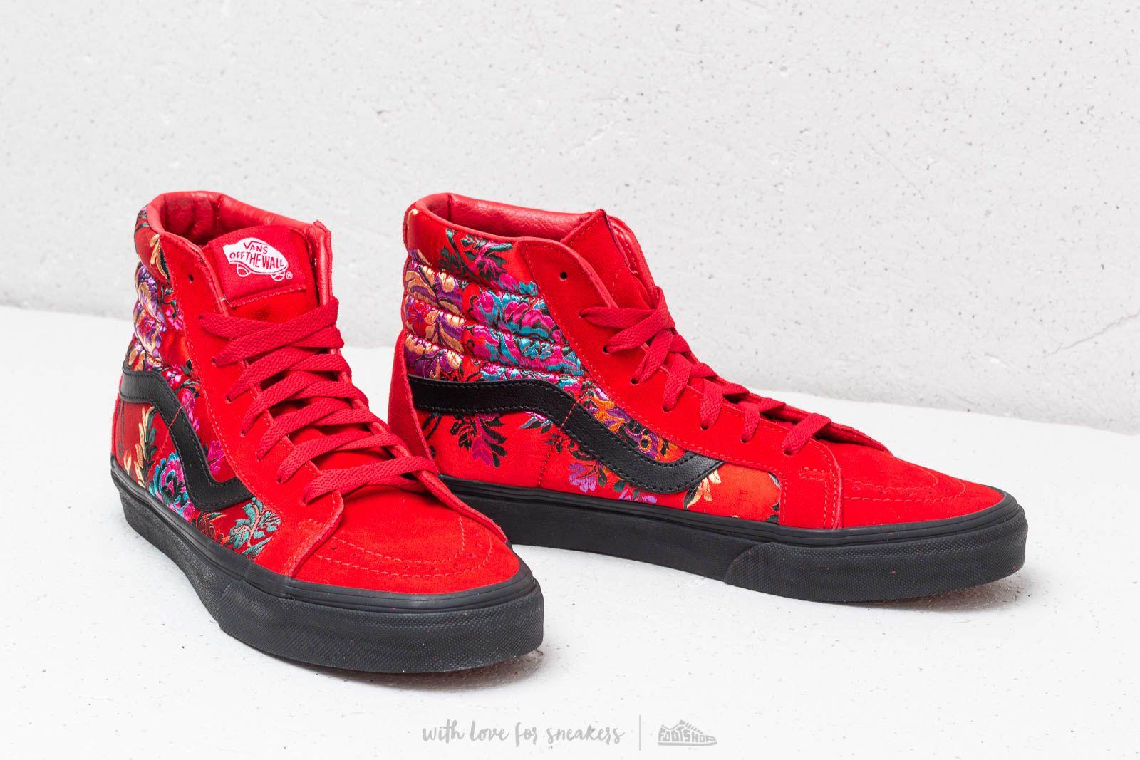 Vans Sk8-Hi Reissue (Festival Satin) Red/ Black | Footshop
