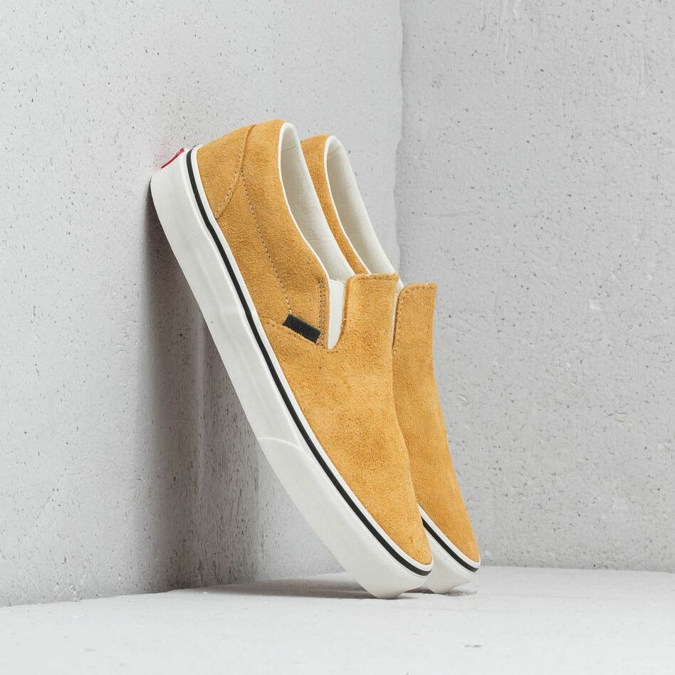 Vans Classic Slip-On (Hairy Suede) Sunflower/ Snow White EUR 42.5