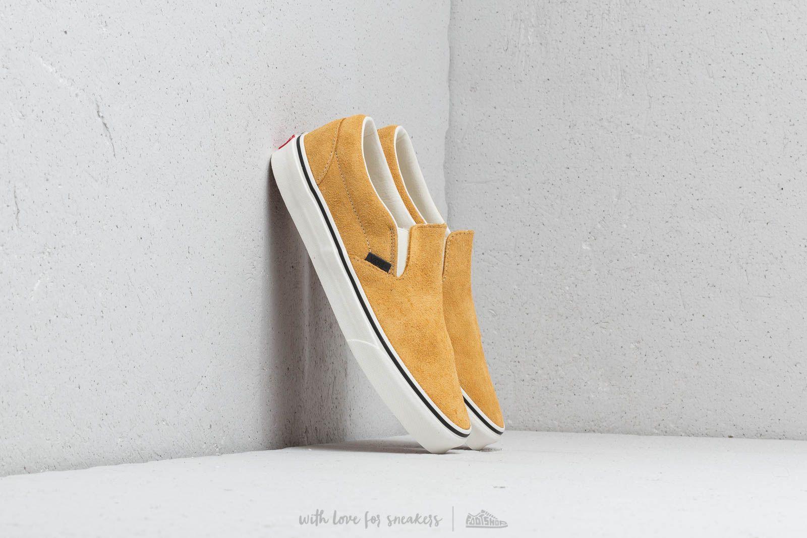 Vans Classic Slip-On (Hairy Suede) Sunflower/ Snow White