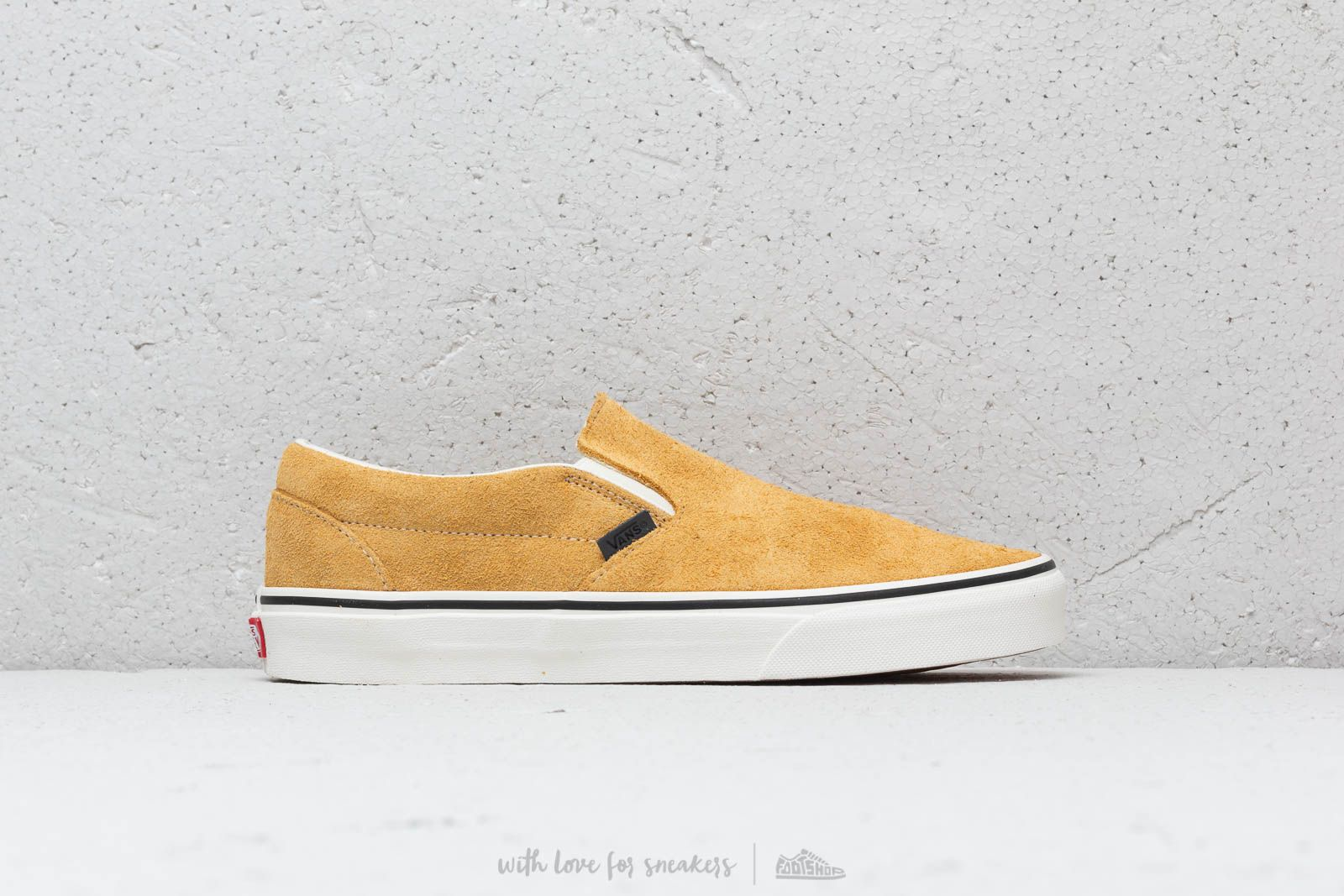 5ed701f777221f Vans Classic Slip-On (Hairy Suede) Sunflower  Snow White at a great