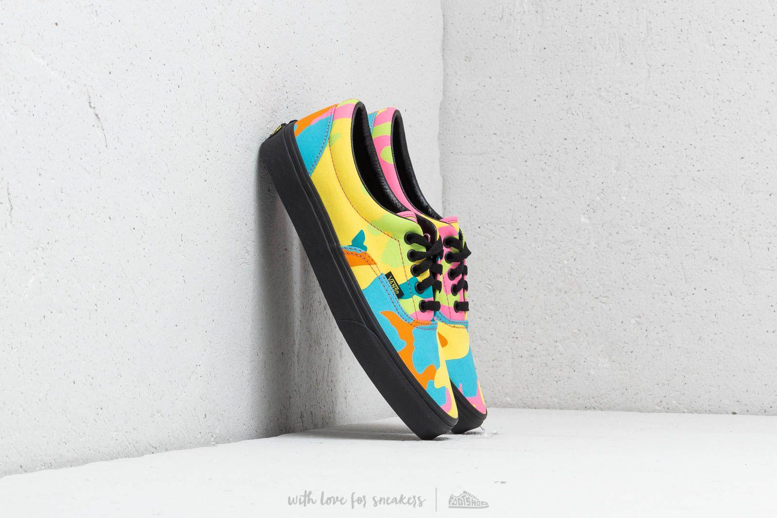 9fa6d658e1878 Vans Era (Neon Camo) Multi Camo/ Black | Footshop