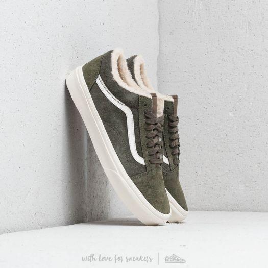 Vans Herren Suede And Sherpa Old Skool Low Top Sneaker