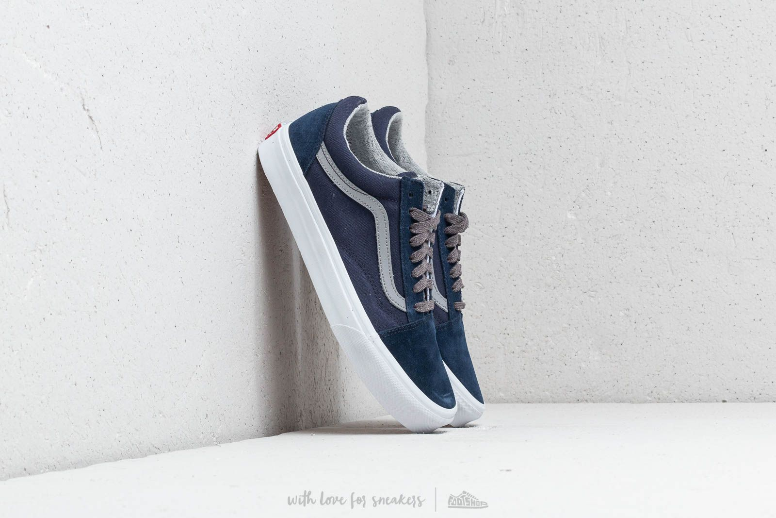 b9f12d598e Vans Old Skool (Jersey Lace) Dress Blues  Gray