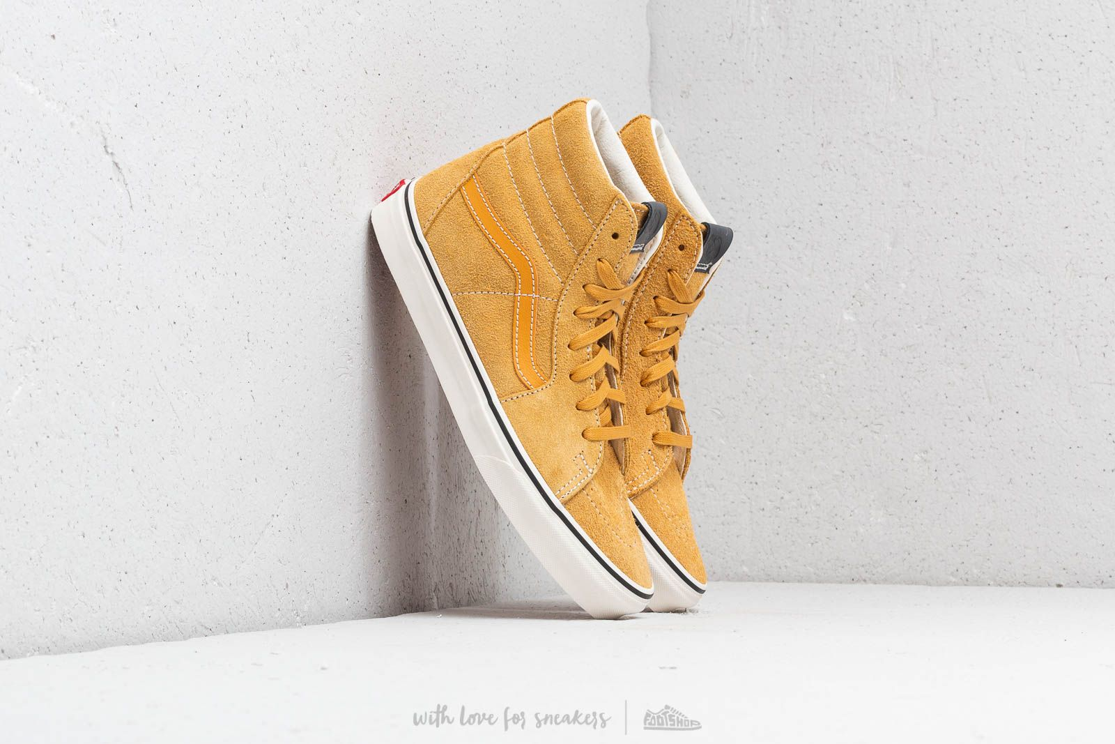9fed01f14381 Vans Sk8-Hi (Hairy Suede) Sunflower  Snow White at a great price