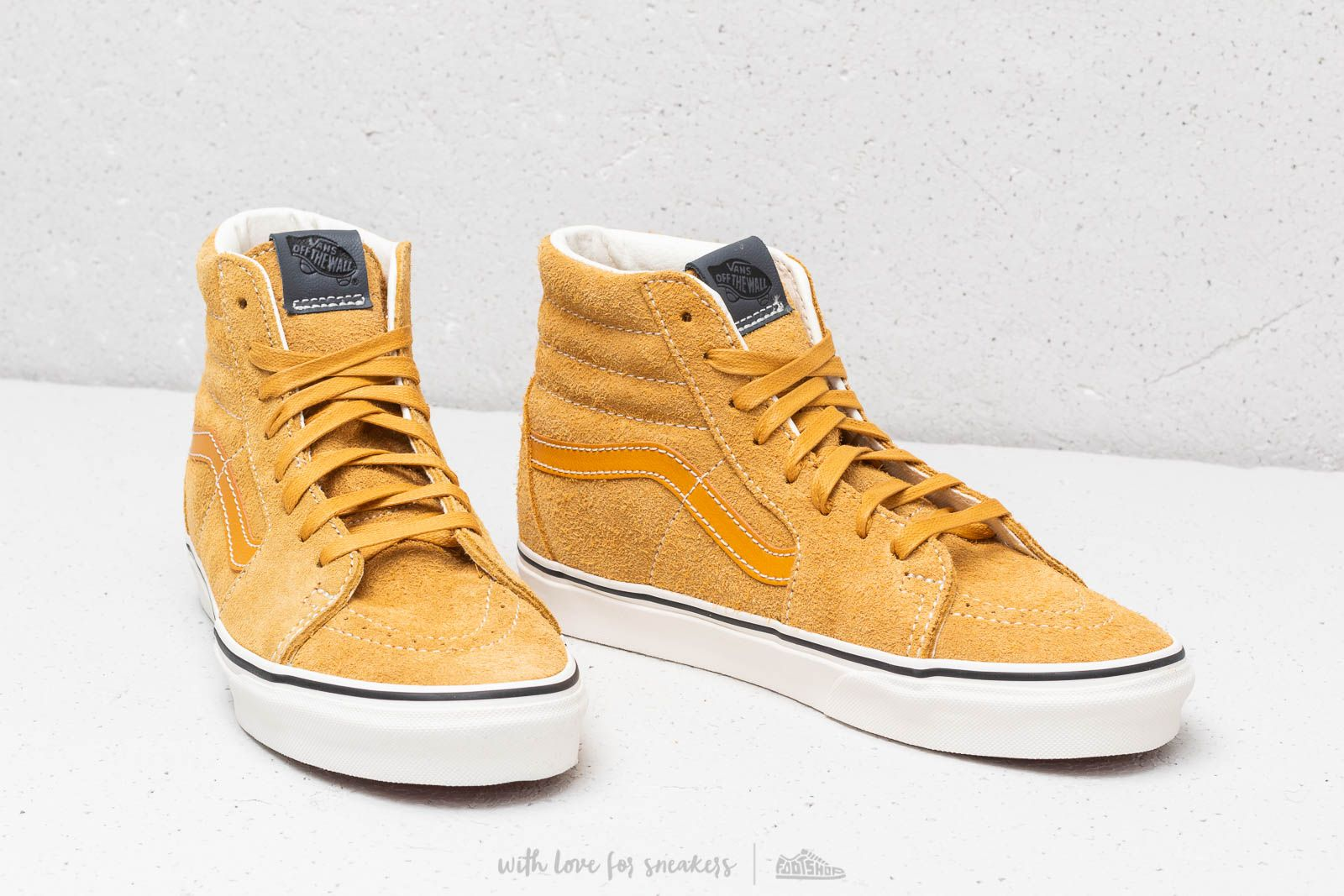 ab771a97684 Vans Sk8-Hi (Hairy Suede) Sunflower  Snow White at a great price