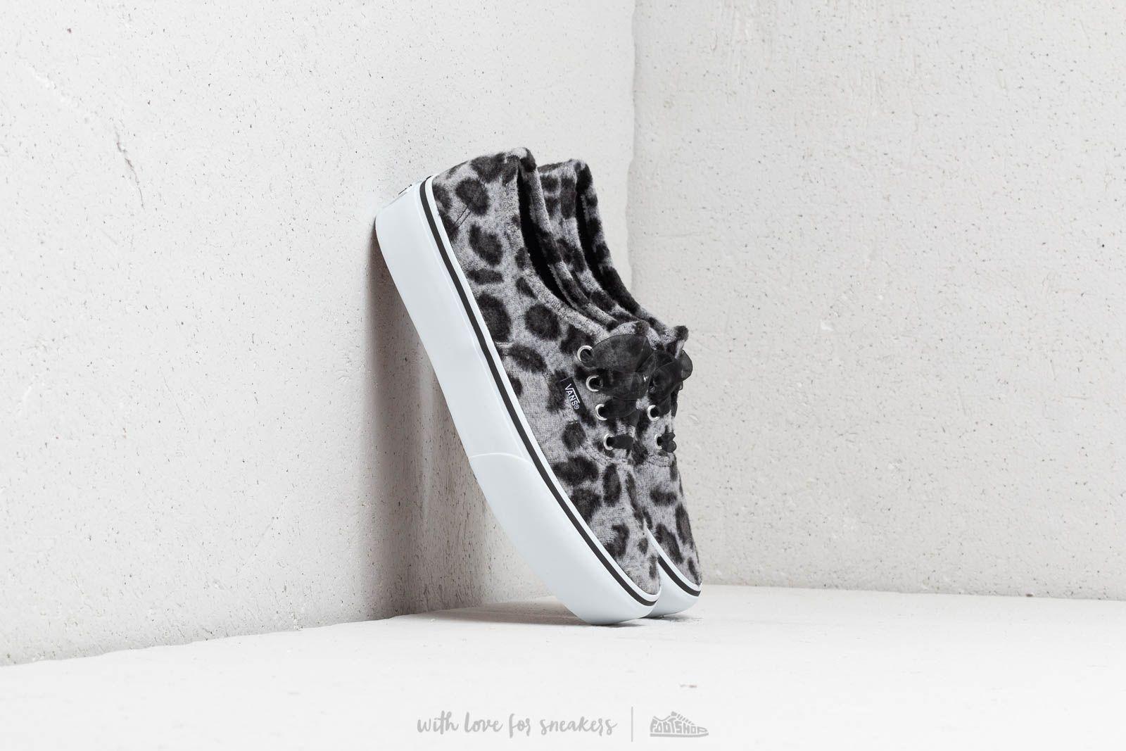 c7d6ea23c82 Vans Authentic Platform (Fuzzy) Snow Leopard  True White