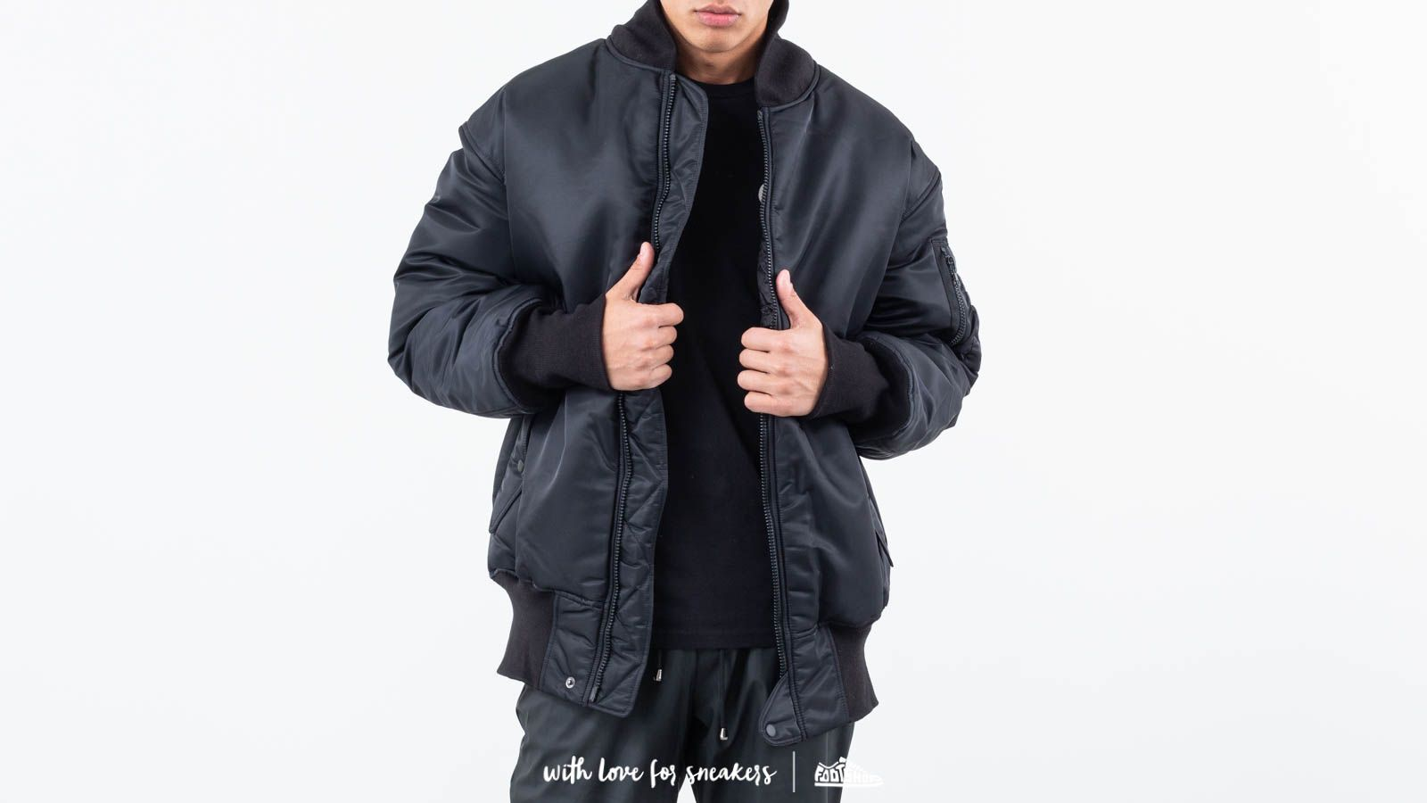Y-3 Oversize Reversible Bomber Black at a great price $774 buy at Footshop