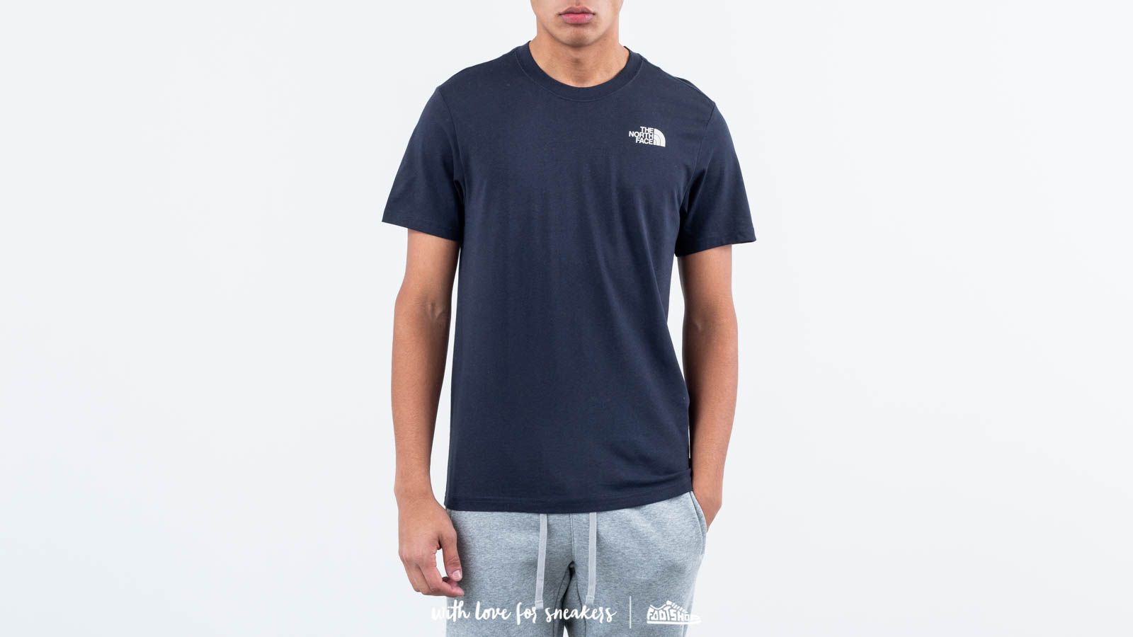 The North Face Red Box Shortsleeve Tee Urban Navy  Vintage White at a great  price b22965c25d51