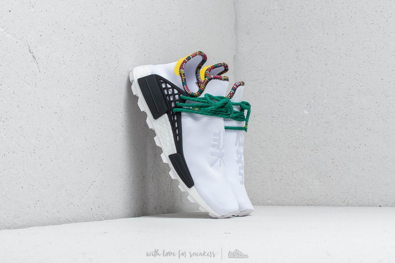 adidas x Pharrell Williams Solar Hu NMD Ftw White/ Bold Green-Bright Yellow