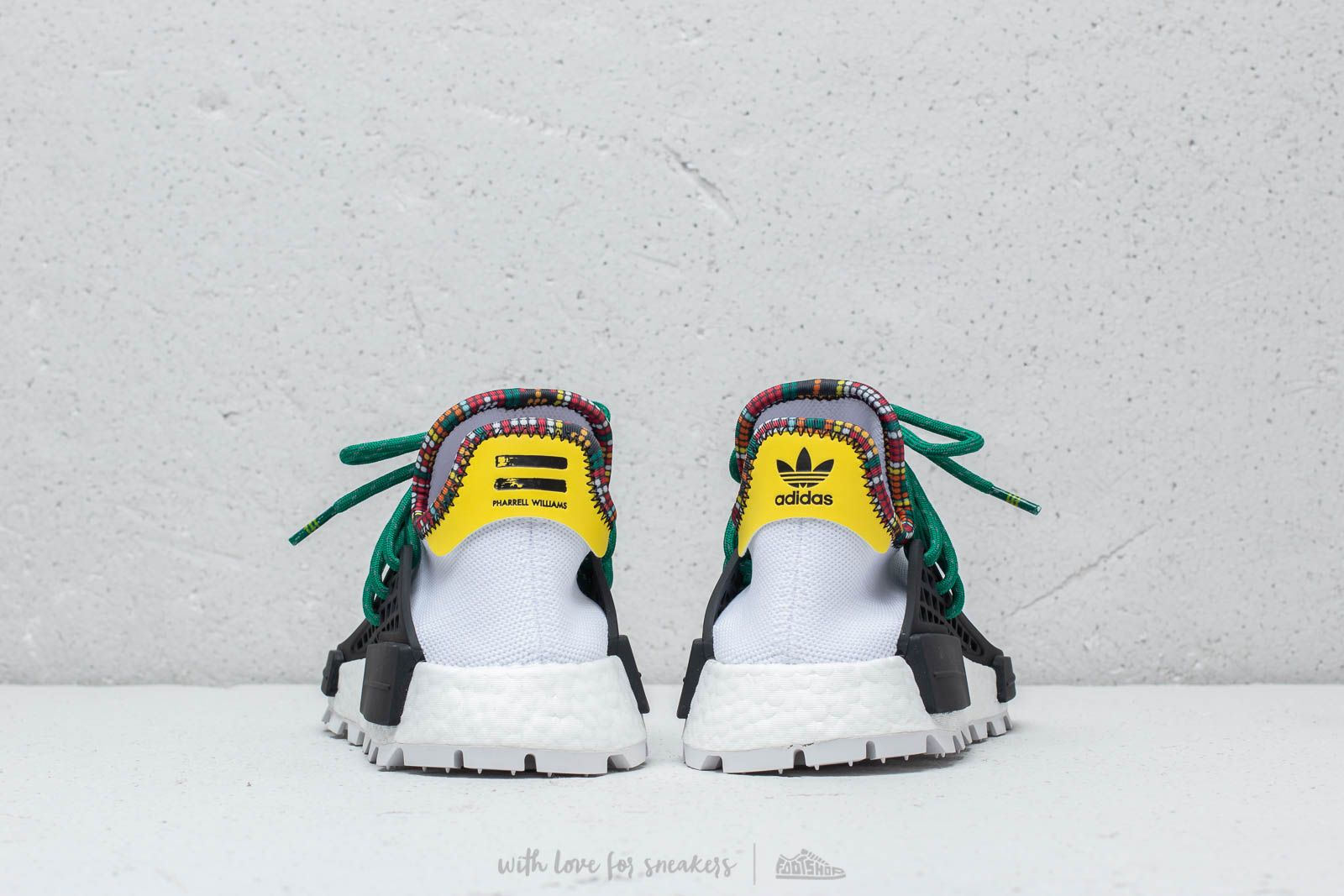 adidas x pharrell williams hu nmd inspiration white / green