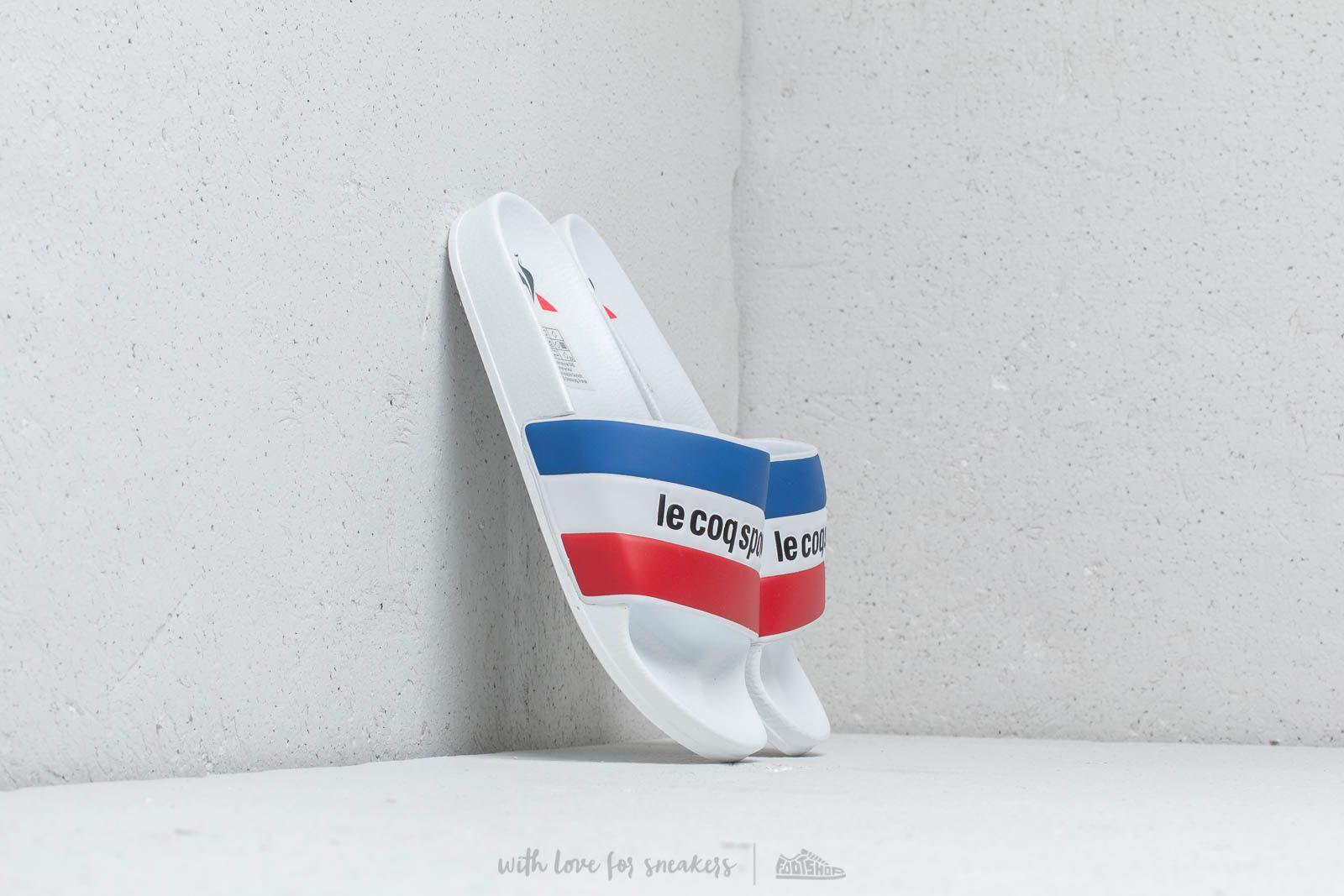 Le Coq Sportif Slide Tricolore Optical White/ Black
