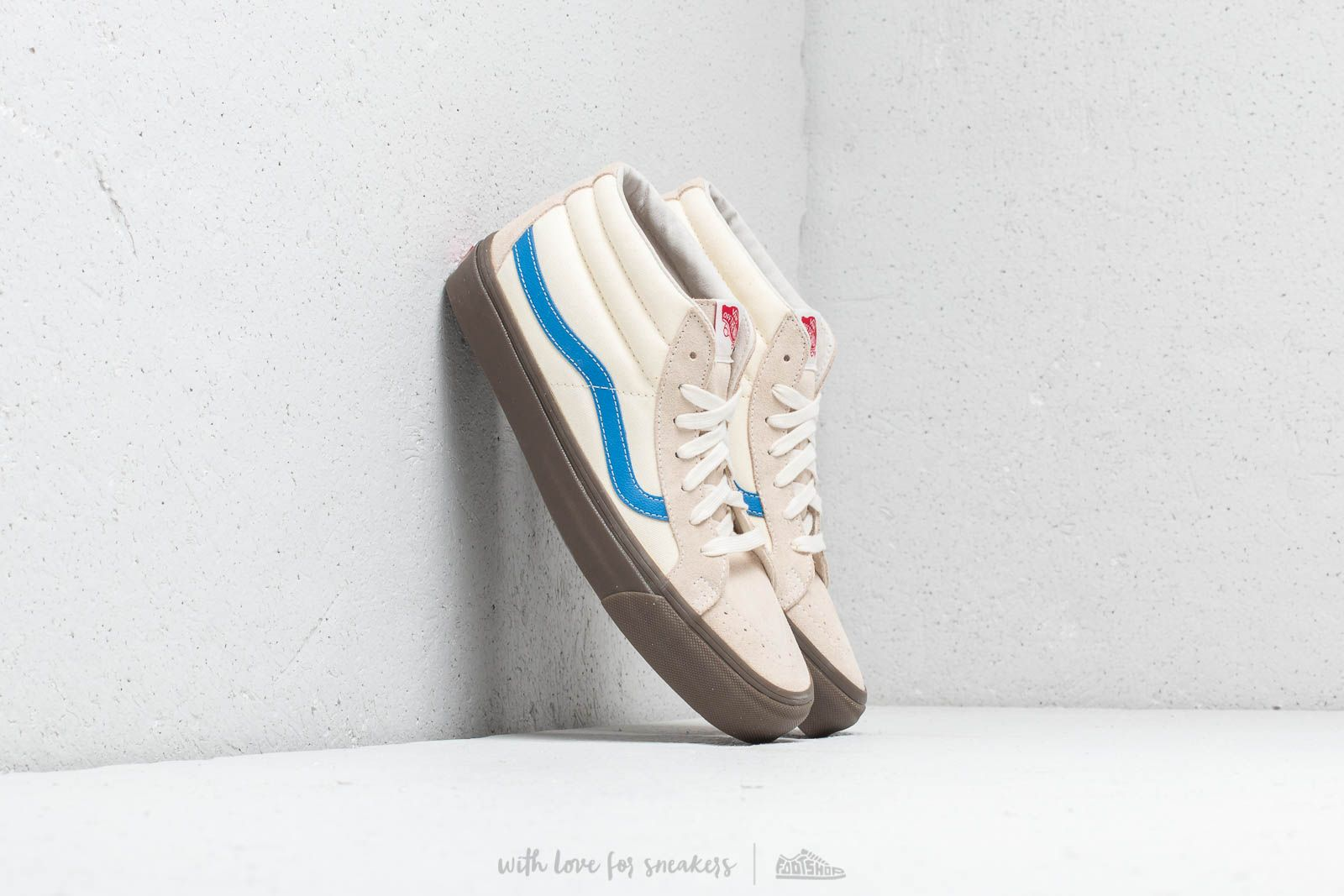 cdd0a917b6 Vans OG Sk8-Mid LX (Suede Canvas) White Asperagus at a great