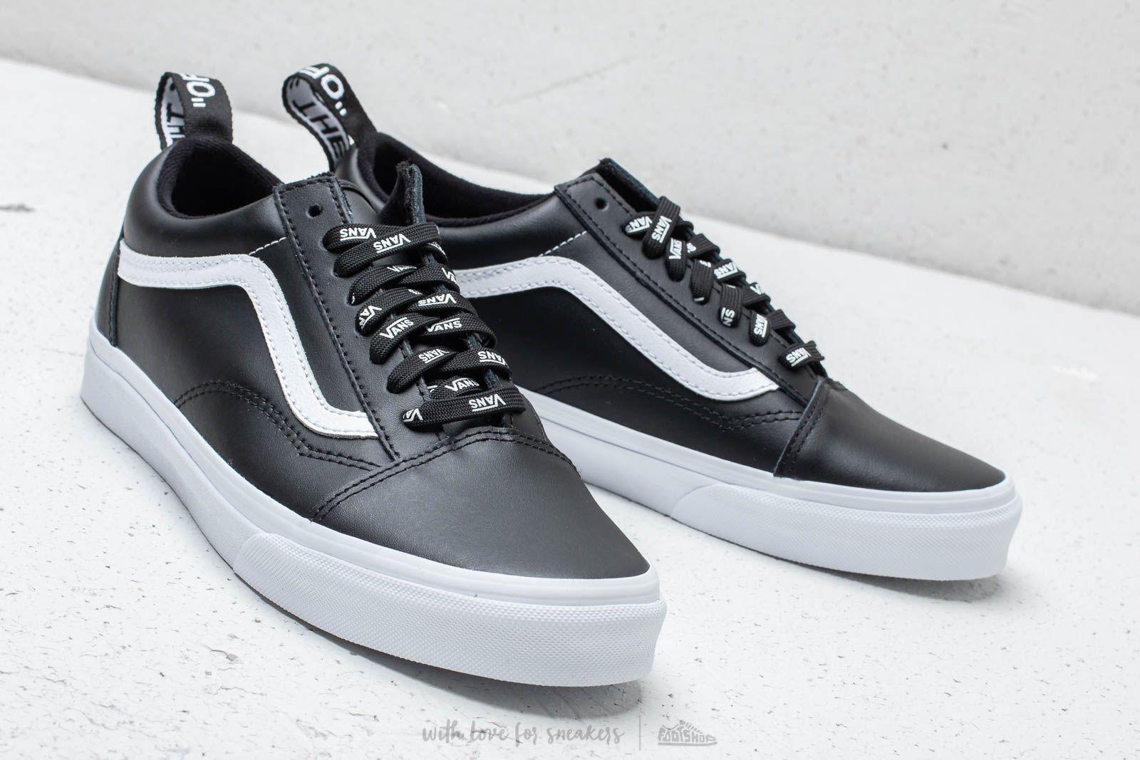 Vans Old Skool (Otw Webbing) Black Leather | Footshop