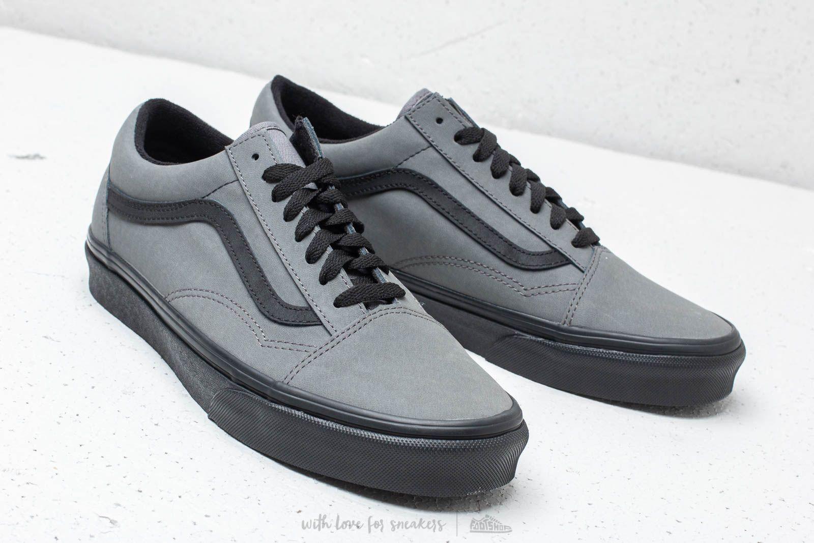 Vans Old Skool (Vansbuck) Pewter Black   Footshop