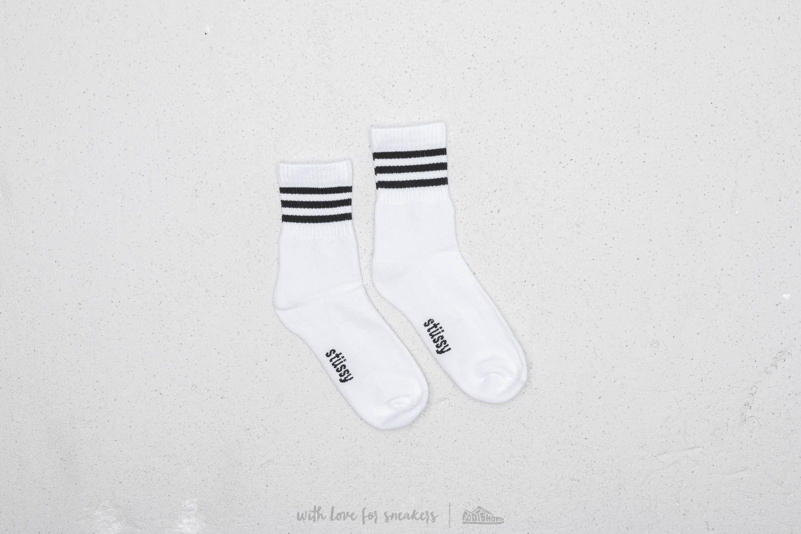 Stüssy Clean Stripe Socks Black za skvělou cenu 340 Kč koupíte na Footshop.cz