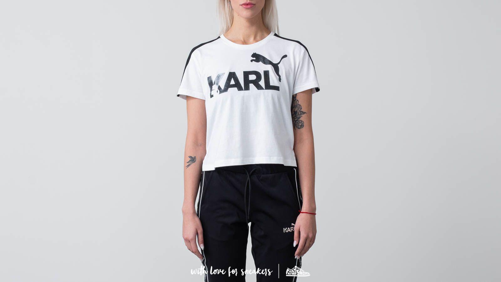 Trička Puma x Karl Lagerfeld Tee White