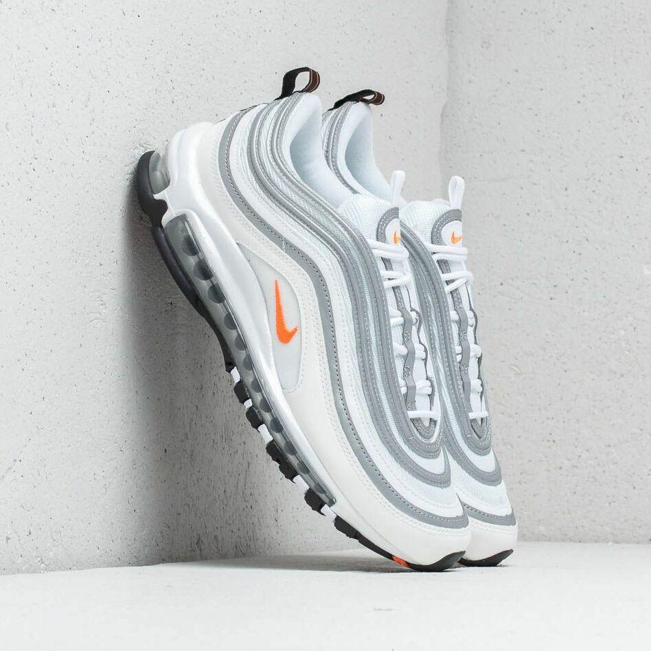 Nike Air Max 97 White/ Cone- Metallic Silver EUR 44