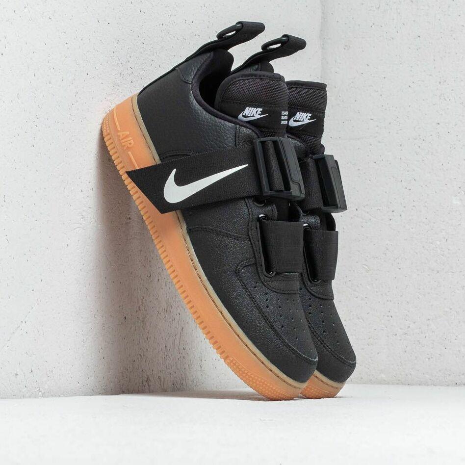 Nike Air Force 1 Utility Black/ White-Gum Med Brown EUR 46