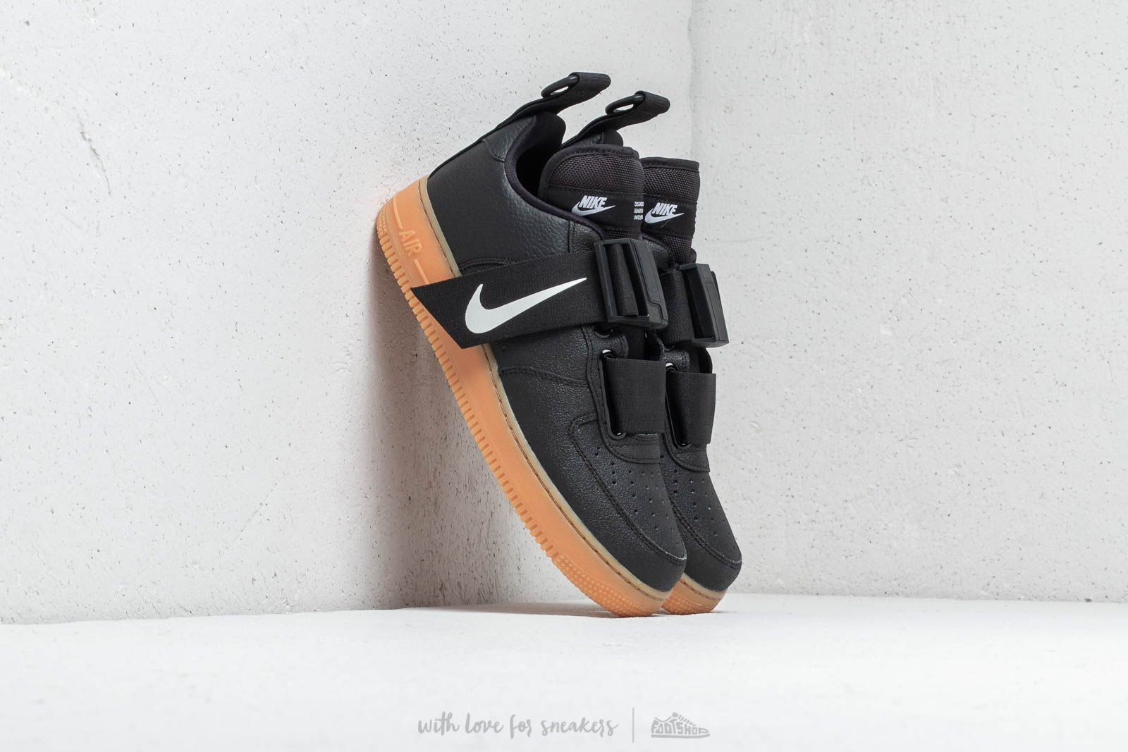 detailed pictures b4517 49cb2 Nike Air Force 1 Utility Black White-Gum Med Brown at a great price