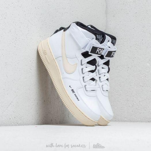 new styles 6d7cc 18bba Nike Air Force 1 High Women's UT White/ Light Cream-Black ...
