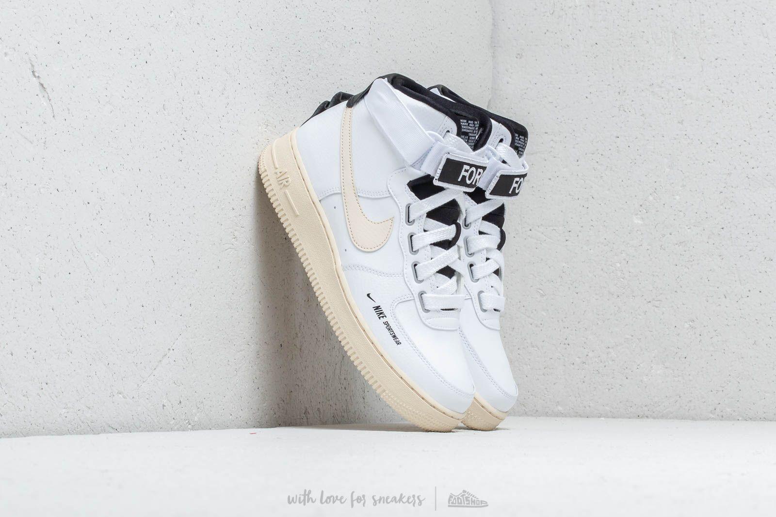 new styles d095f 26781 Nike Air Force 1 High Women's UT White/ Light Cream-Black ...