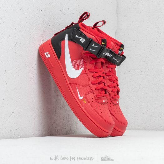 Nike Air Force 1 Mid '07 Lv8 University Red White Black | Footshop