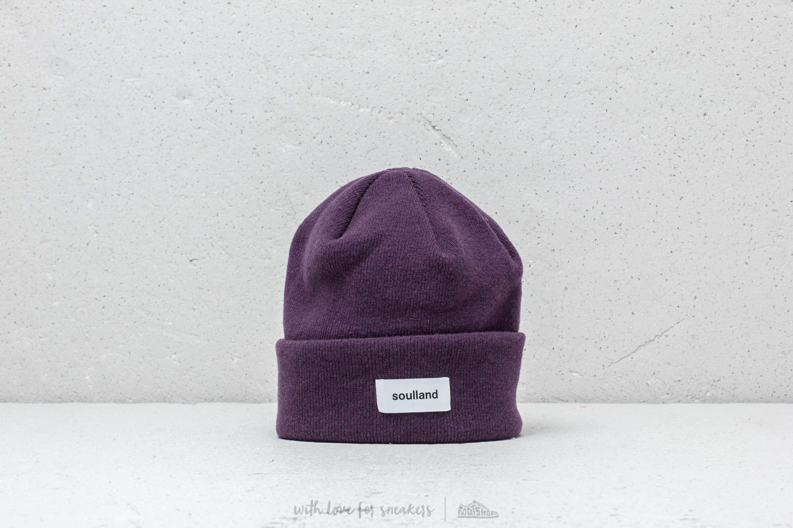 Soulland Villy Beanie Purple za skvelú cenu 28 € kúpite na Footshop.sk
