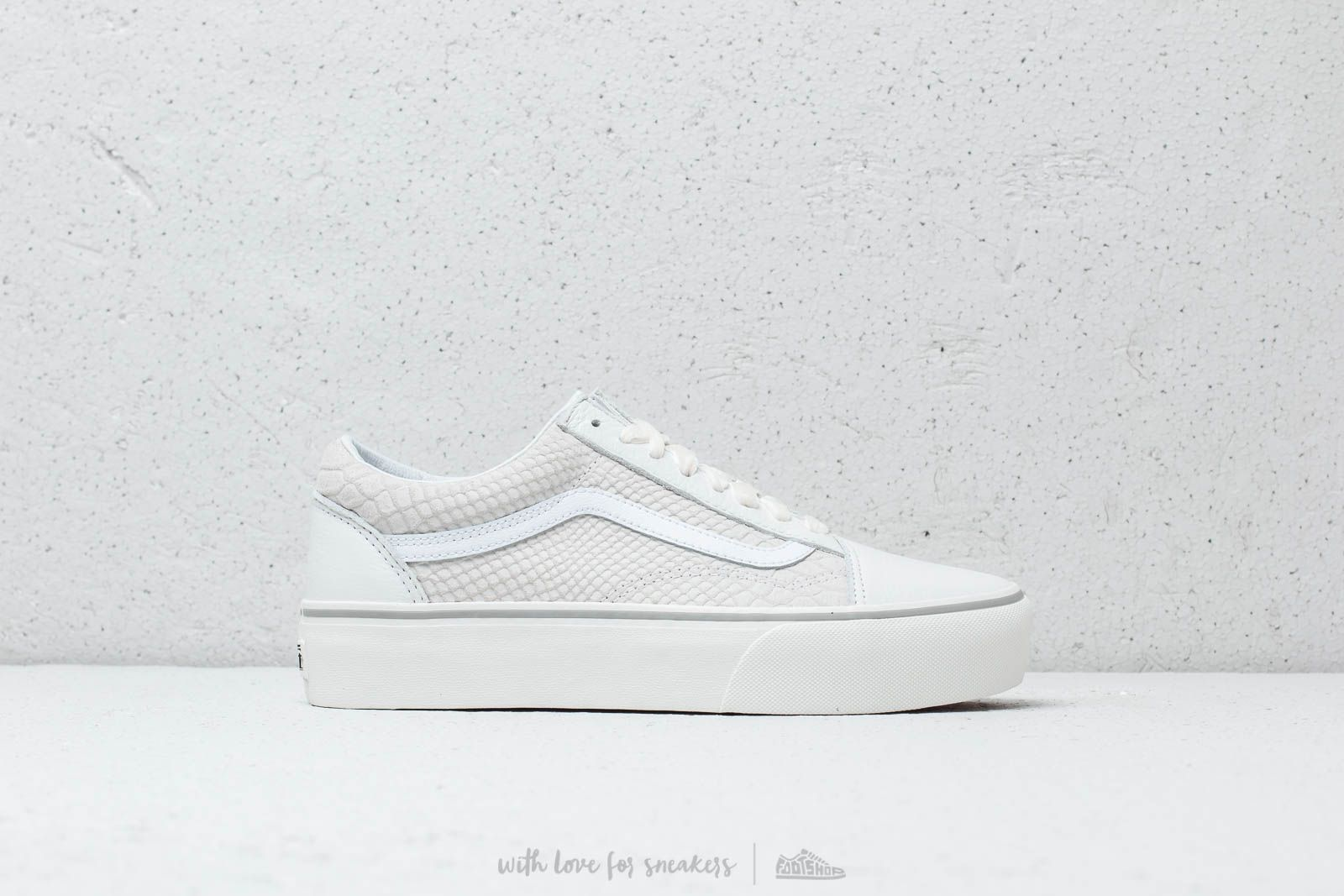 e562b0432e Vans Old Skool Platform (Leather) Snake  White at a great price 100 €