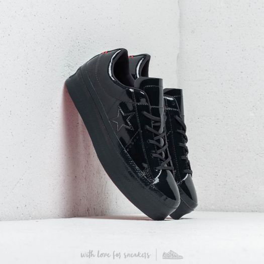 Converse One Star Platform OX Black Black Black | Footshop