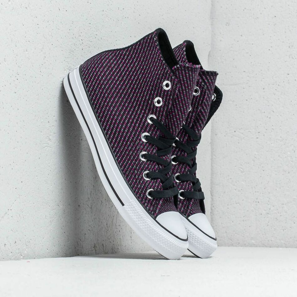 Converse Chuck Taylor All Star High Black/ Icon Violet/ Cool Grey