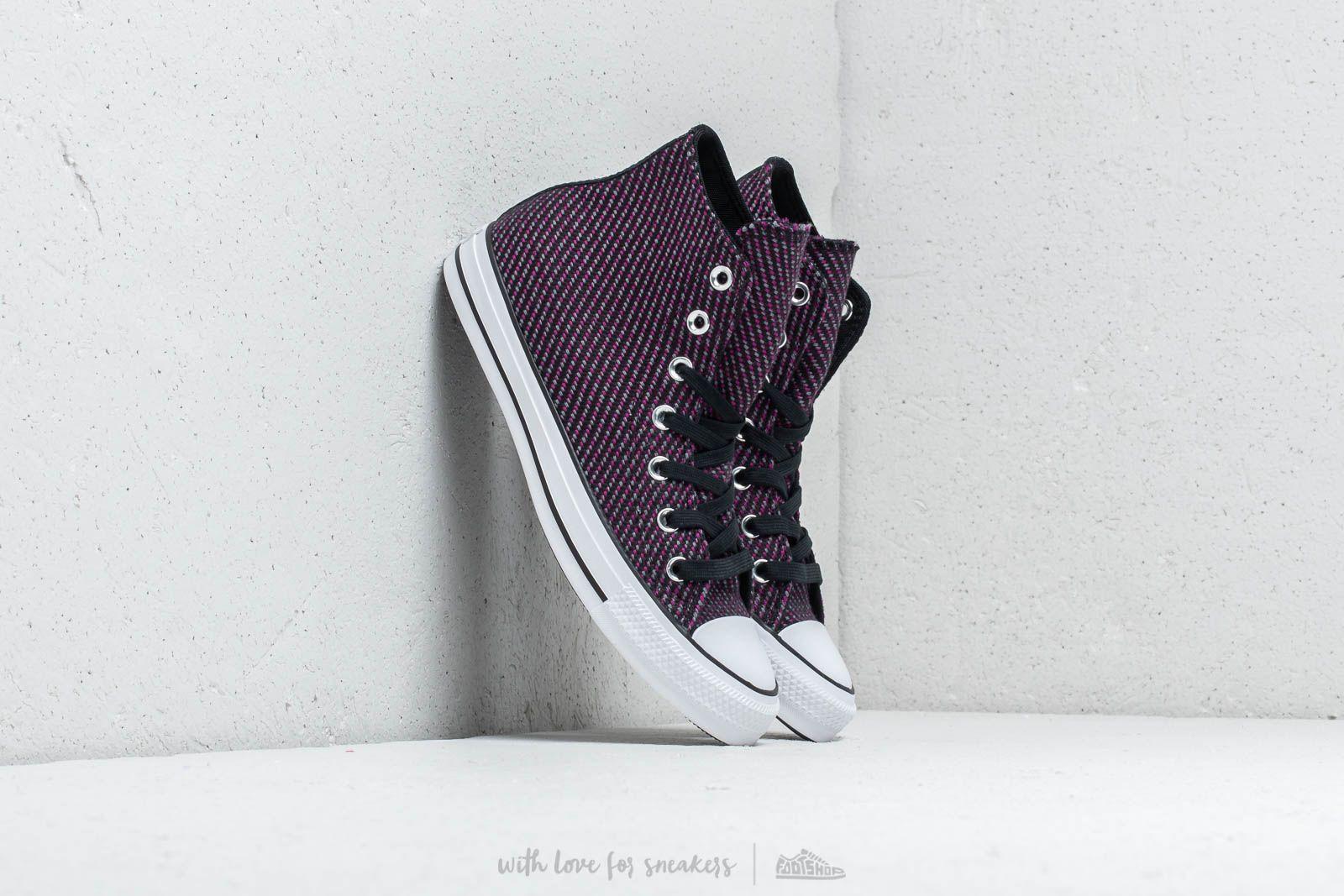 7b40868d87a Converse Chuck Taylor All Star High Black  Icon Violet  Cool Grey au meilleur  prix