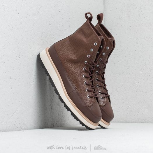 Converse High Boot HI Chocolate Leather Size US 10 Mens Chuck Taylor All Star!