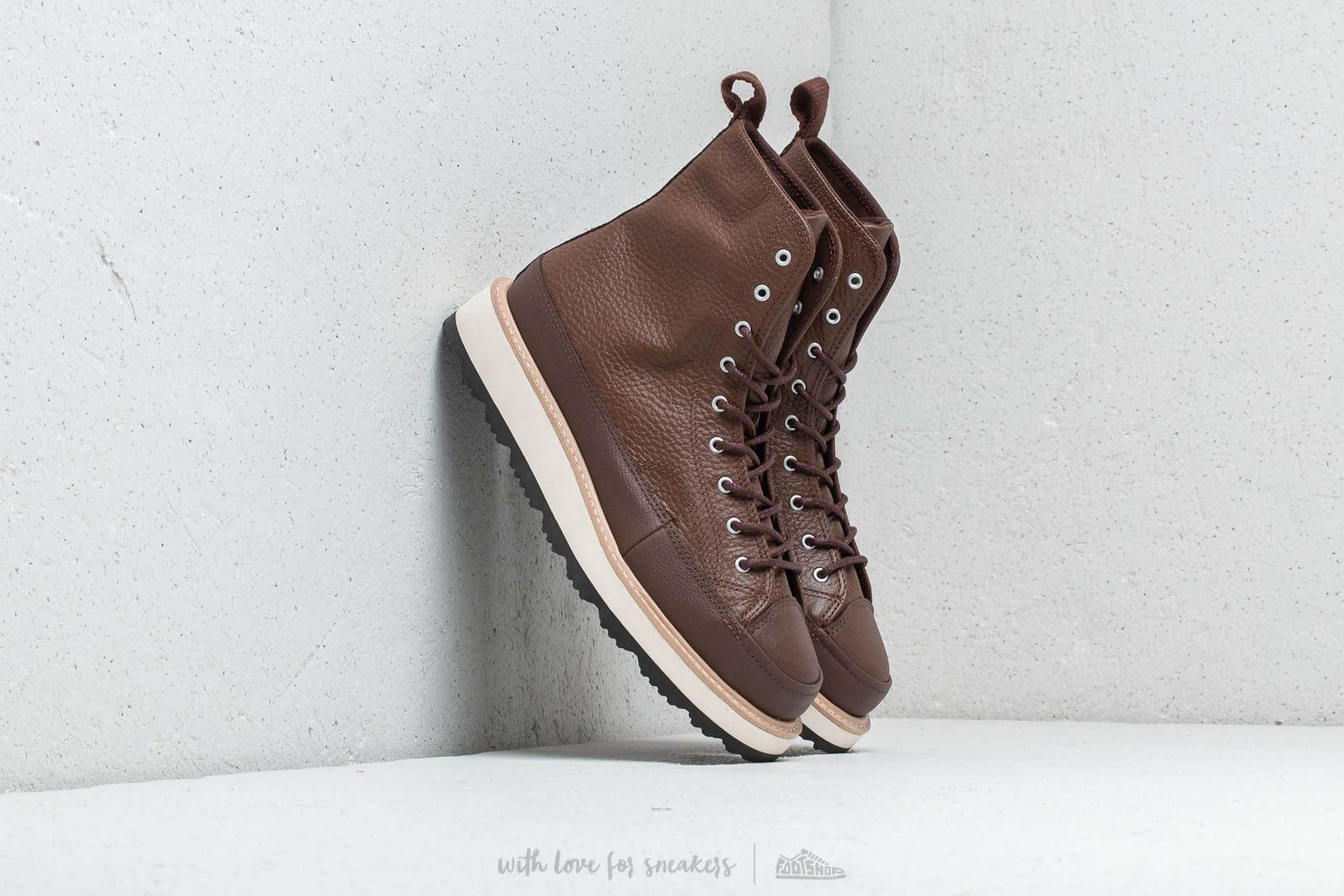 fae6dd3a3d3f Converse Chuck Taylor All Stars Crafted Boot High Chocolate  Light Fawn   Black at a
