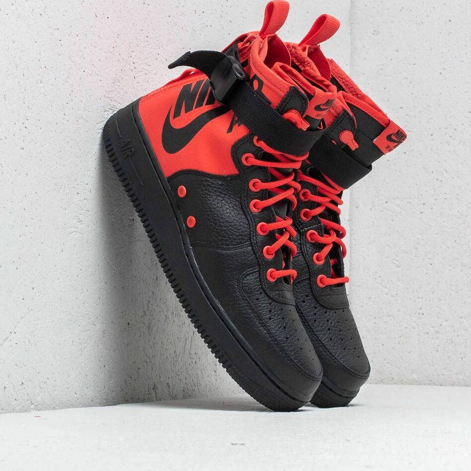Nike SF Air Force 1 Mid Habanero Red/ Habanero Red EUR 43