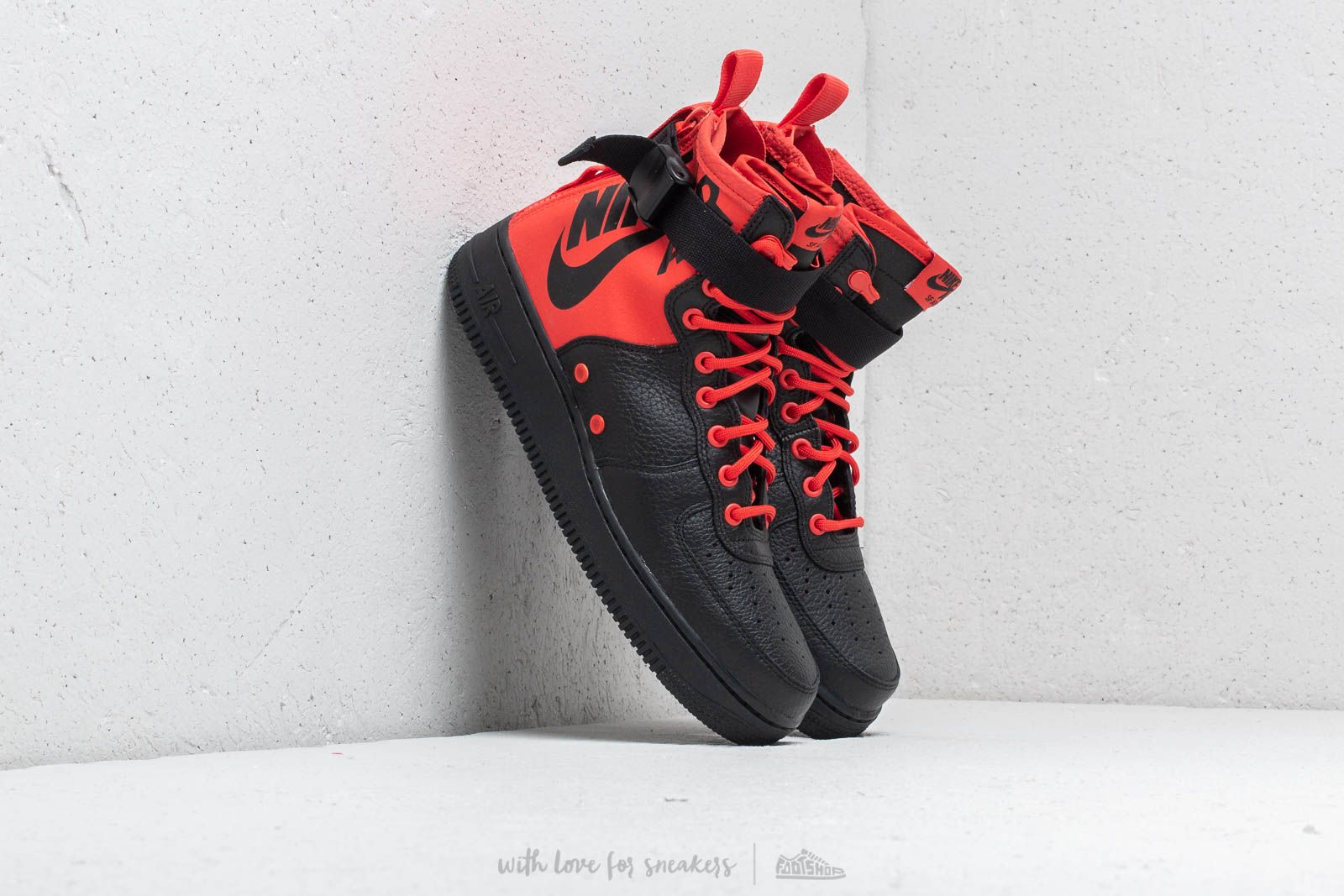 Nike Sf Air Force 1 Mid Habanero Red Habanero Red Footshop