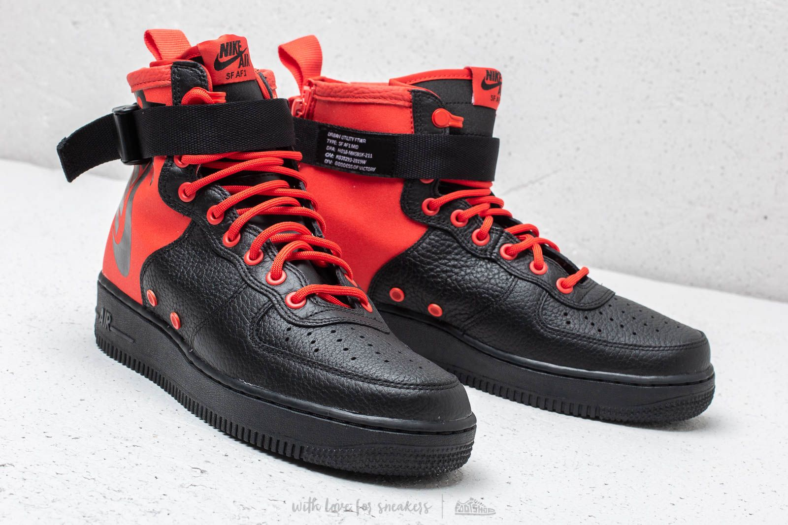Nike SF Air Force 1 Mid Habanero Red Habanero Red | Footshop