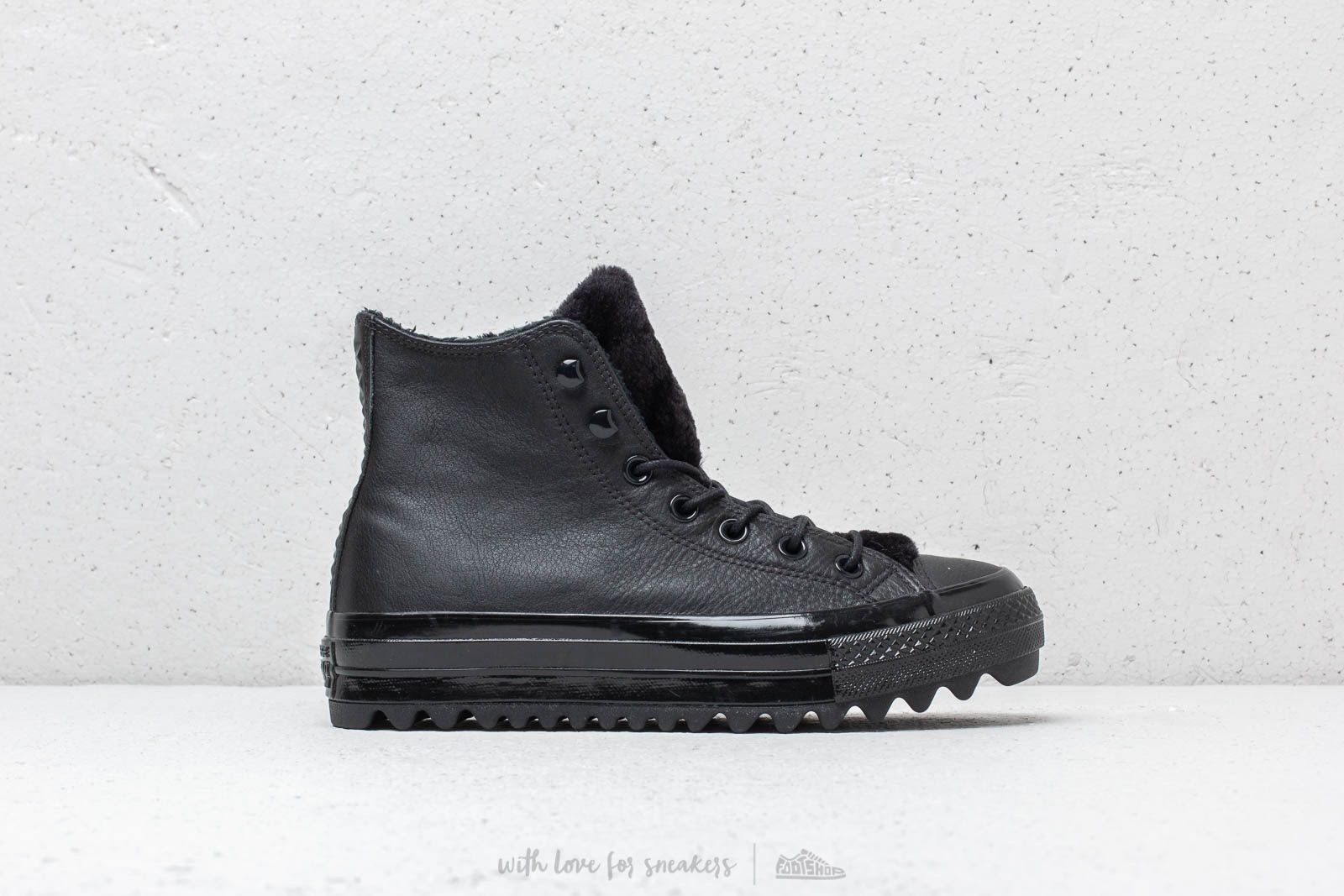 fa095bcc9387 Converse Ctas Lift Ripple Hi Black  Black  Black at a great price 74 €