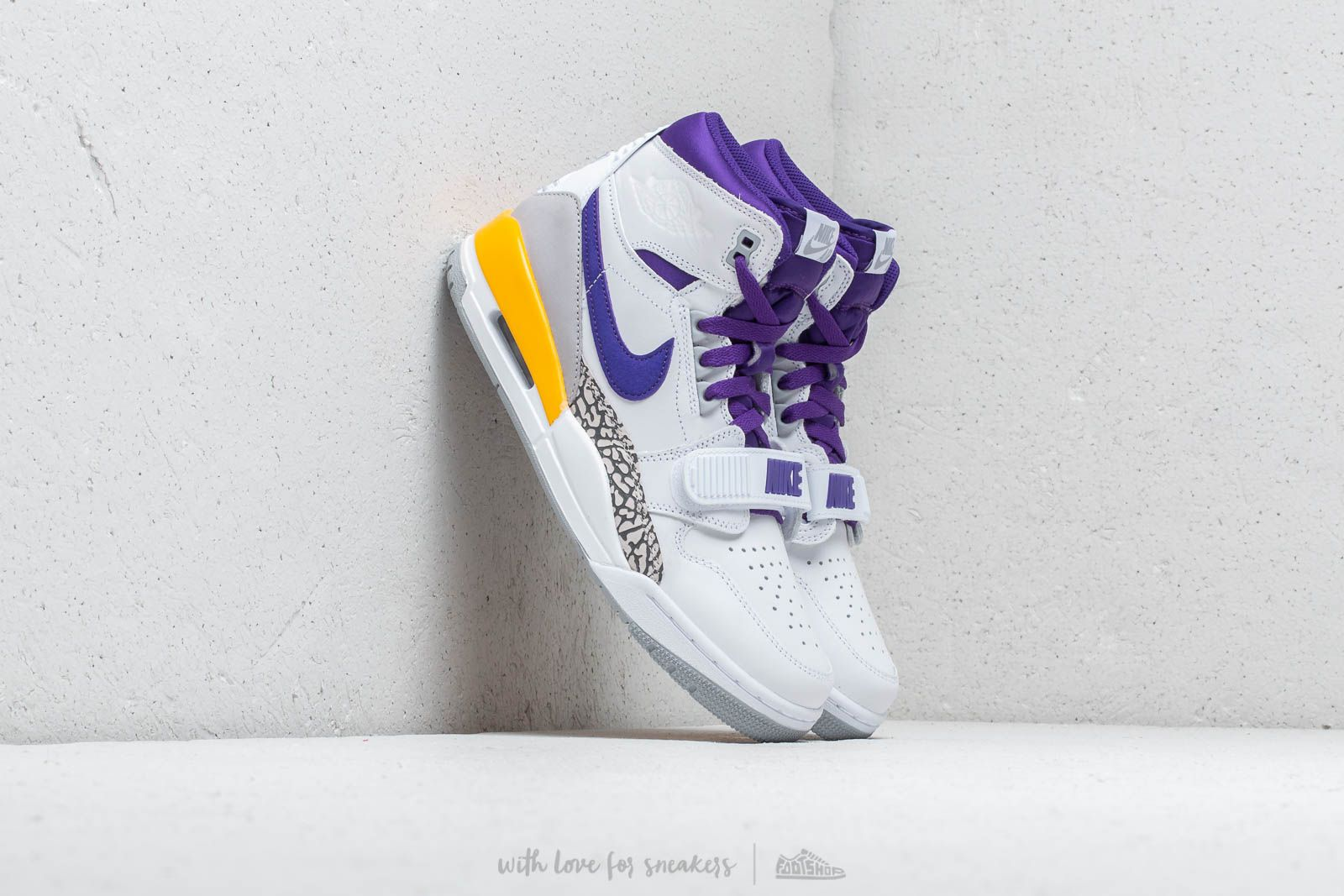 Air Jordan Legacy 312 White/ Field Purple- Amarillo