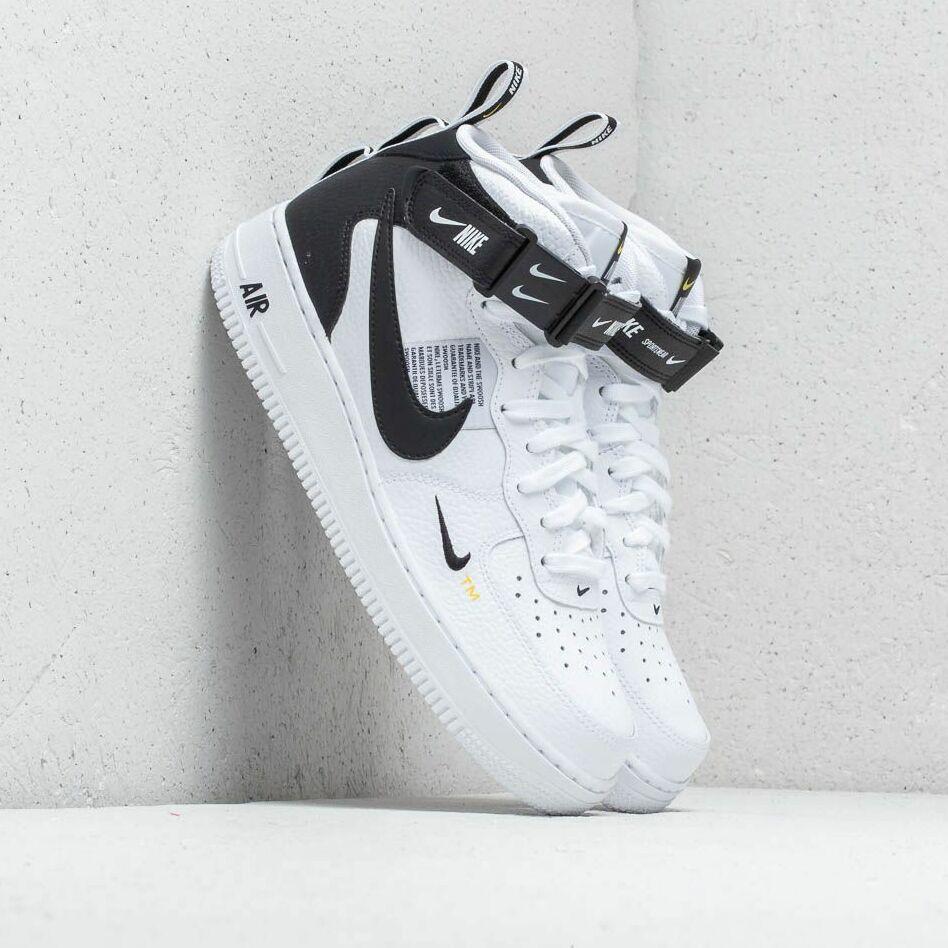 Nike Air Force 1 Mid '07 Lv8 White/ Black- Tour Yellow