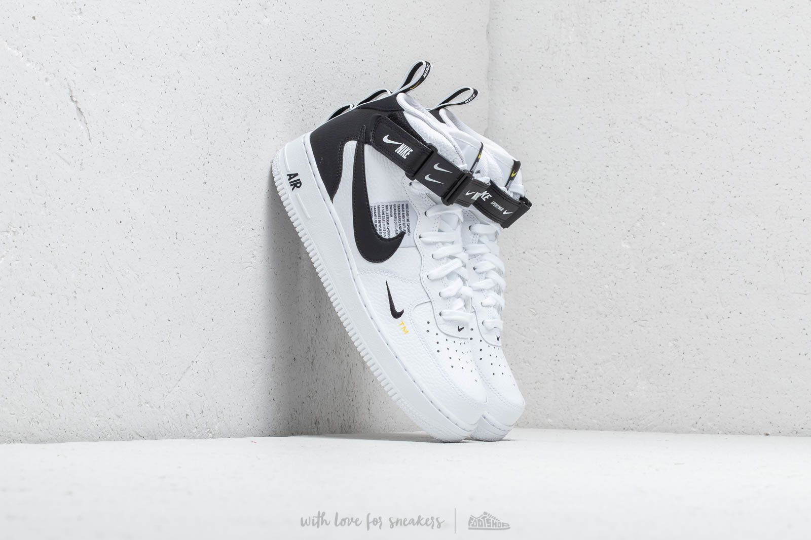 a75a35b68e4 Nike Air Force 1 Mid  07 Lv8 White  Black- Tour Yellow