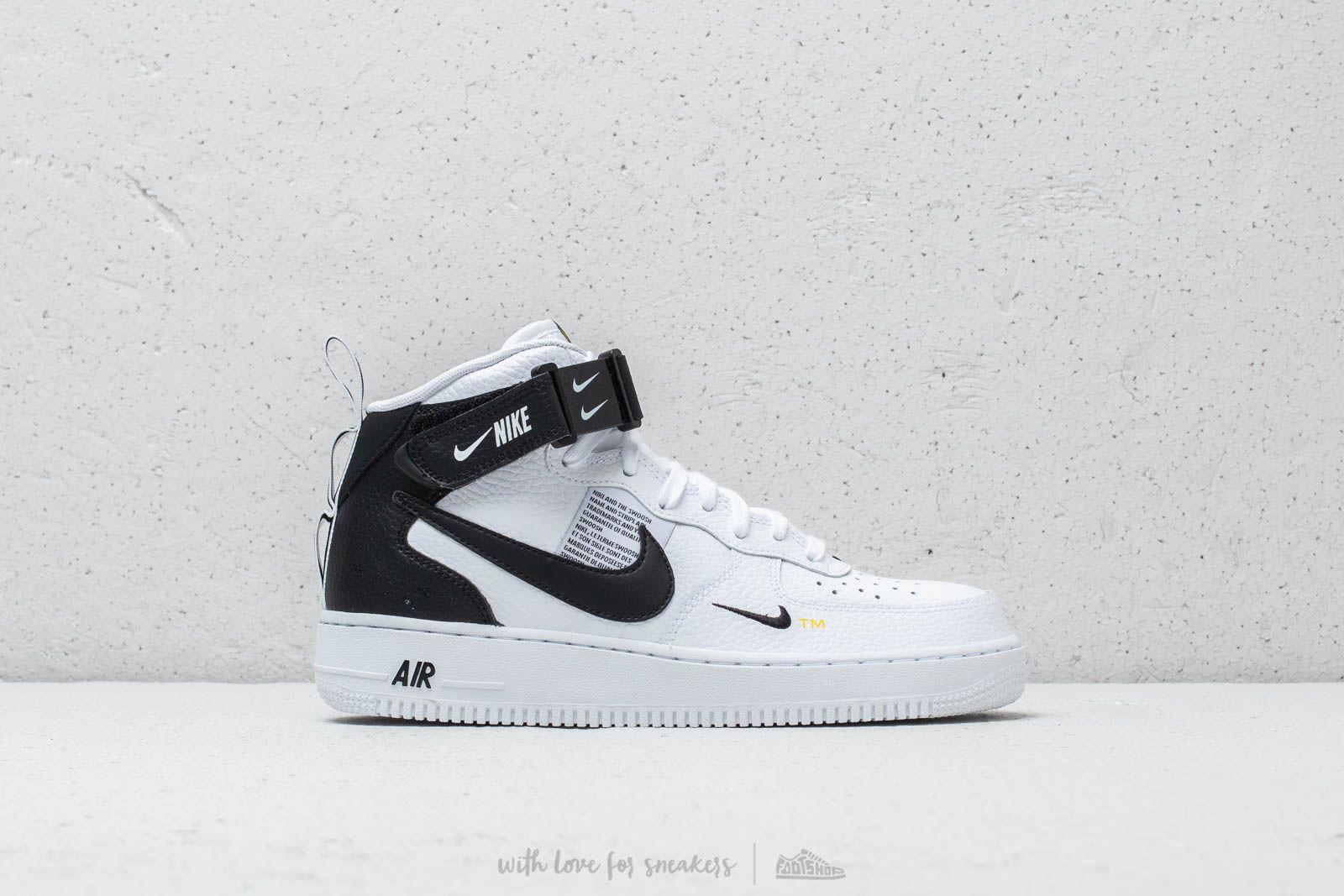 Nike Air Force 1 Mid '07 Lv8 White Black Tour Yellow | Footshop