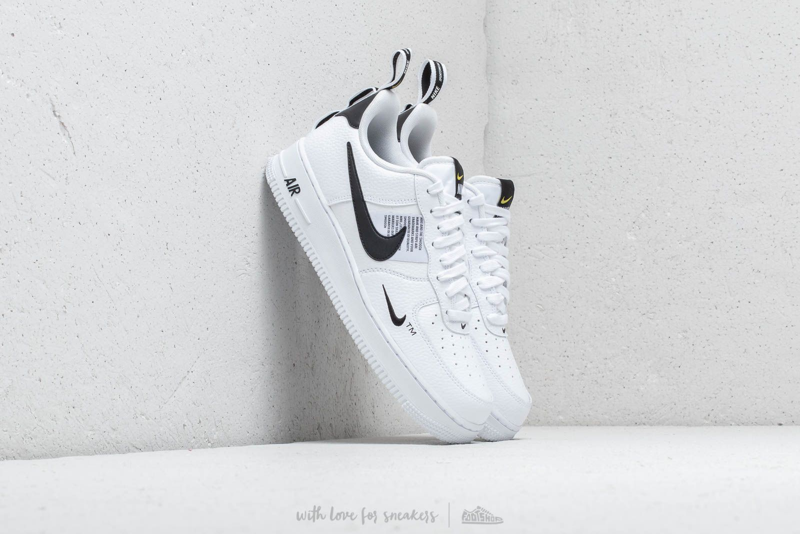 d873f43d7374 Nike Air Force 1  07 LV8 Utility White  White-Black-Tour Yellow ...