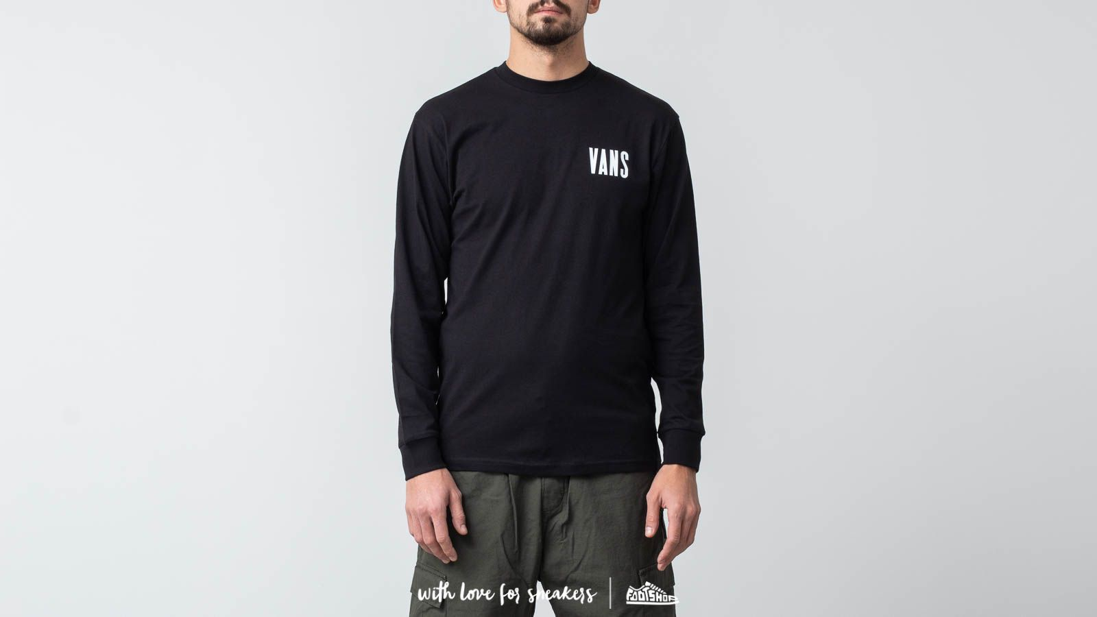 7261fac4f6 Vans Type Stacker Longsleeve Tee Black at a great price £32 buy at Footshop