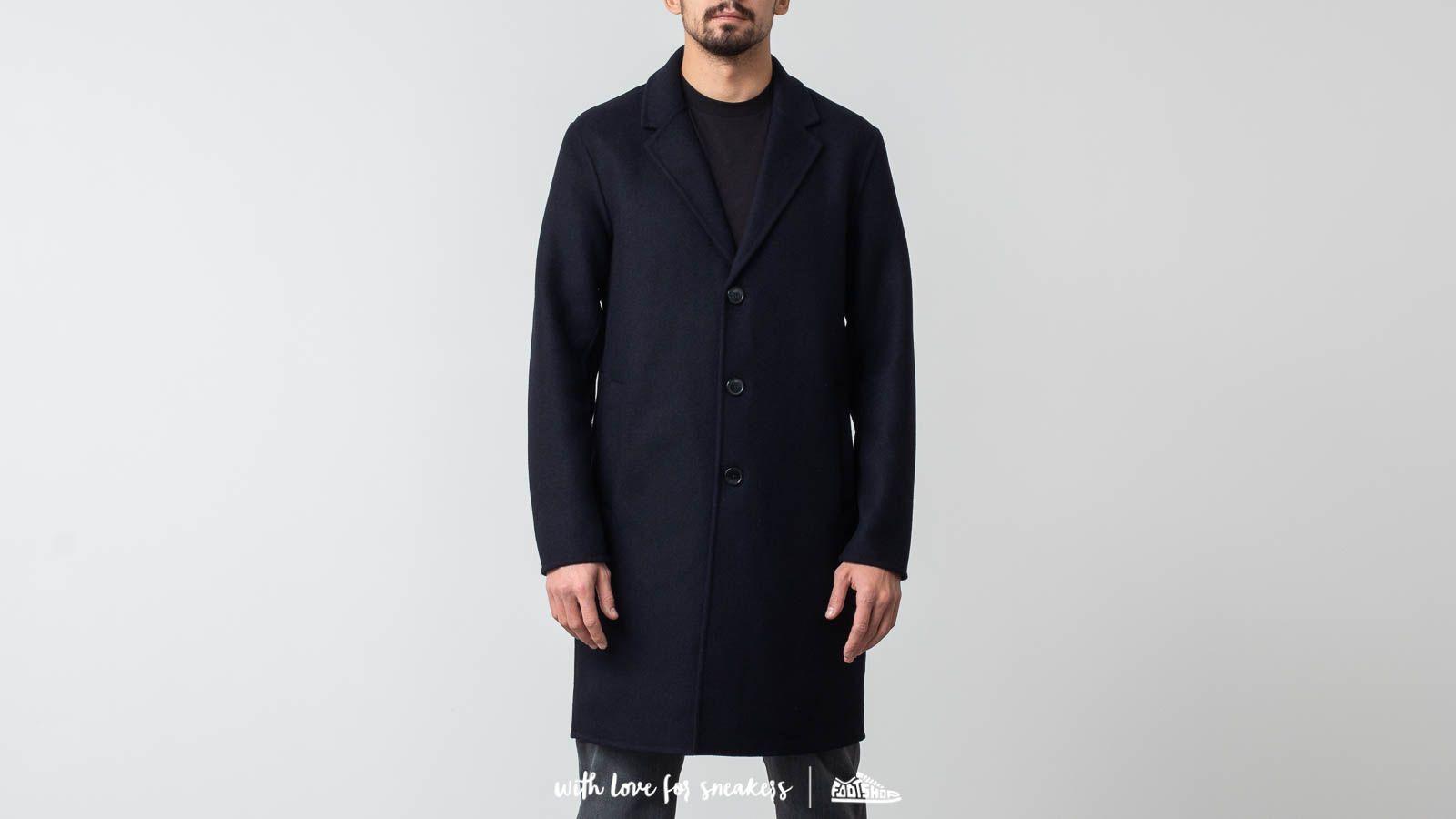 Bundy a kabáty SELECTED Hand Stitched Coat Dark Navy