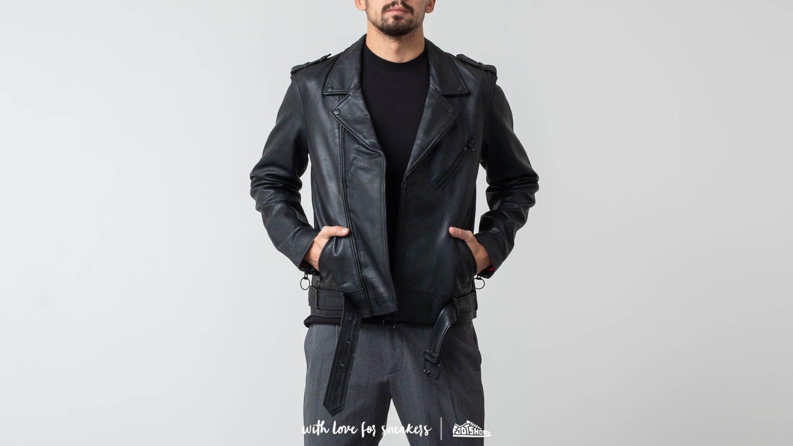 Soulland Richenback Heavy Leather Biker Jacket