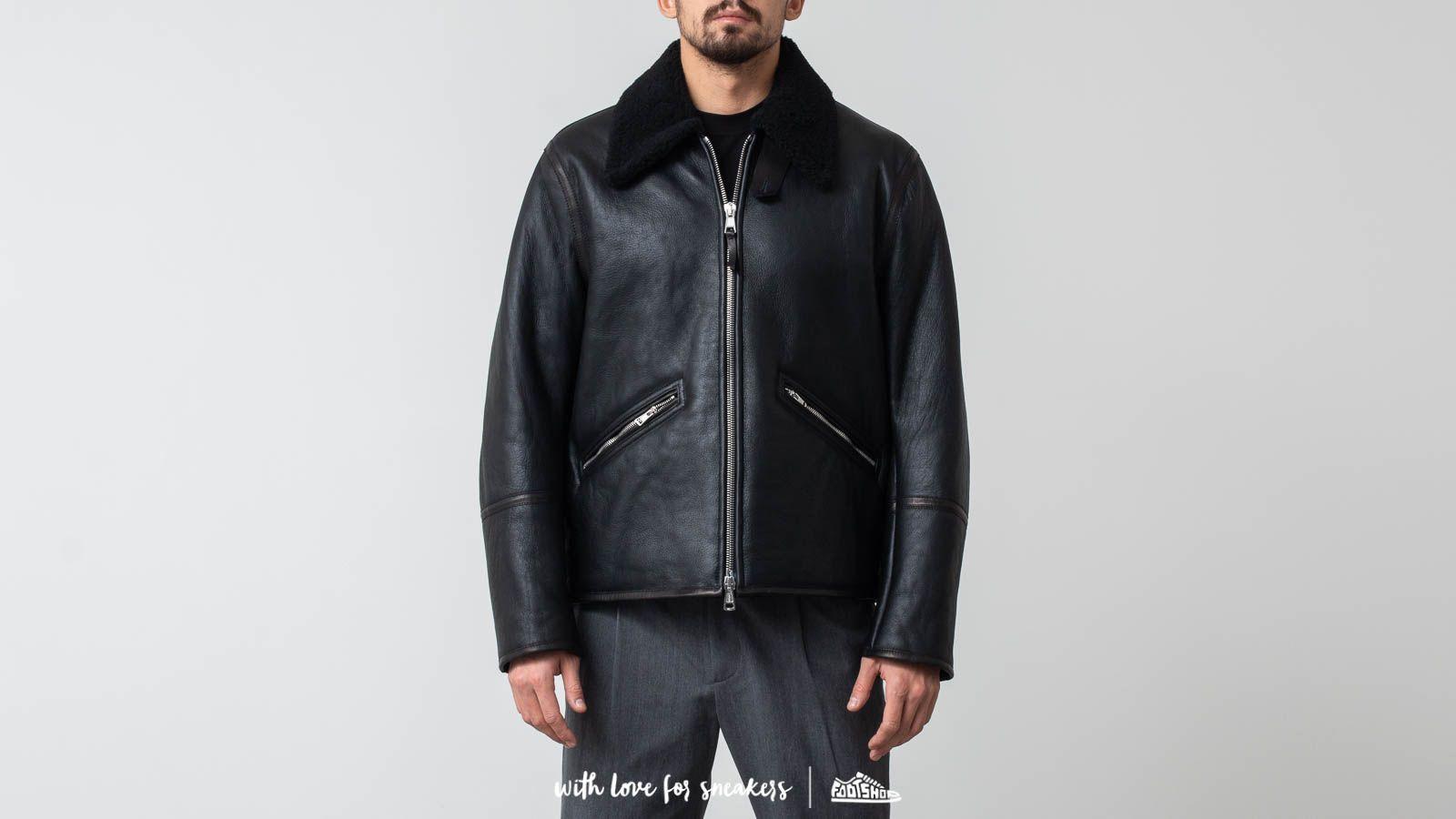 Our Legacy Flight Shearling Jacket Black za skvělou cenu 18 590 Kč koupíte na Footshop.cz