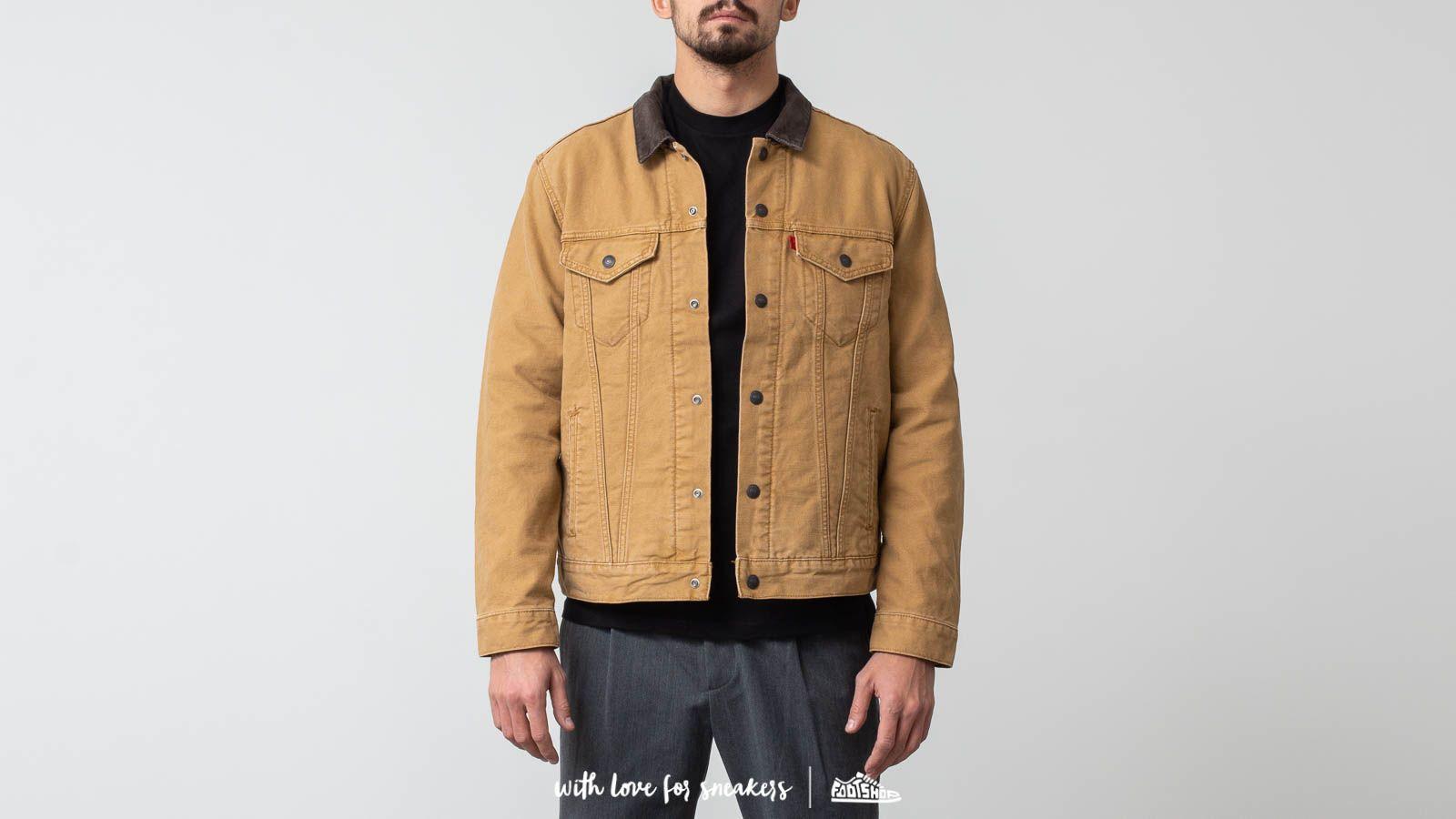 Design moderne le magasin Meilleure vente Levi's® X Justin Timberlake Canvas Trucker Jacket Khaki | Footshop