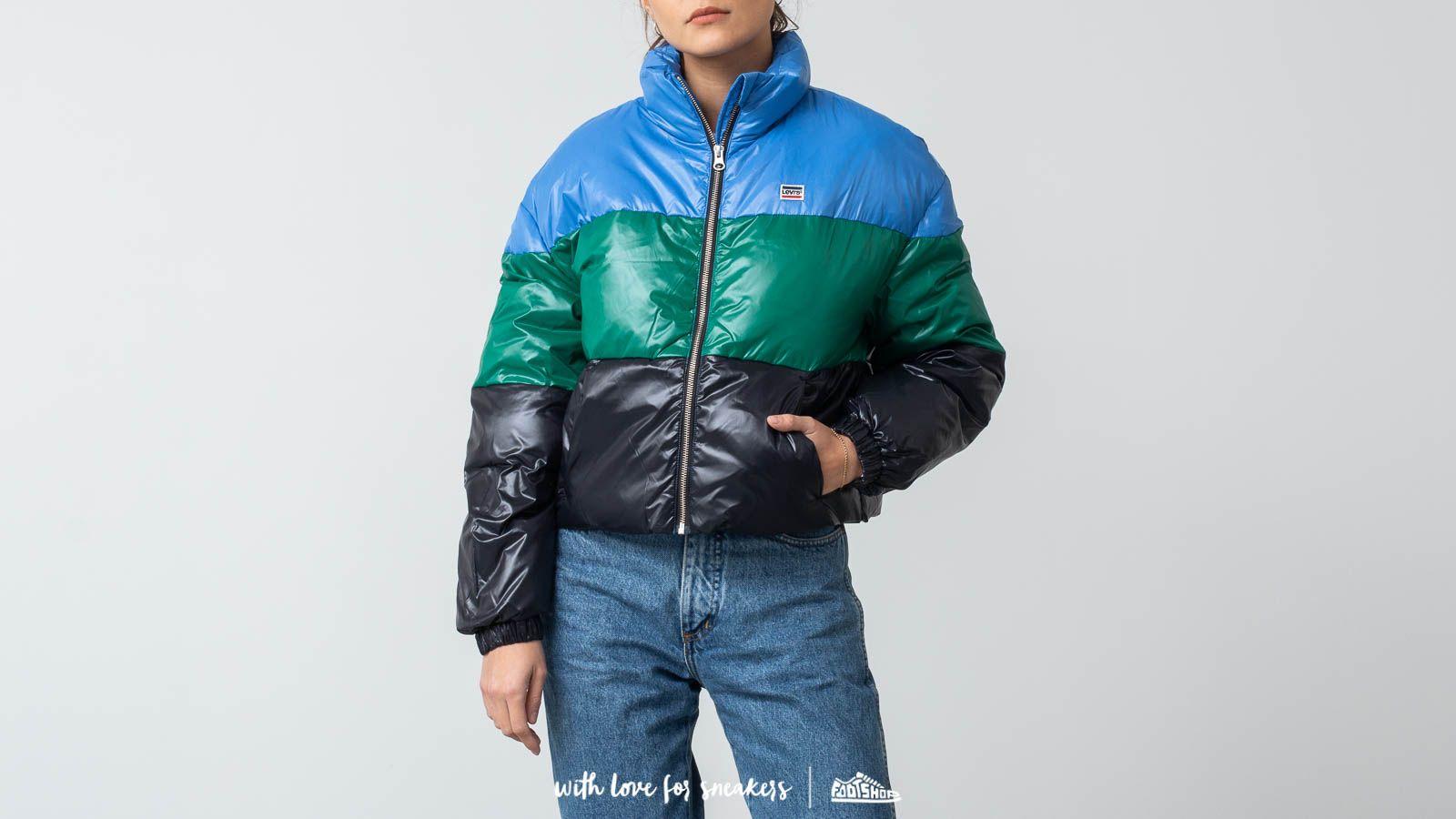 Levi's® Sam Puffer Jacket Blue/ Green za skvělou cenu 2 190 Kč koupíte na Footshop.cz