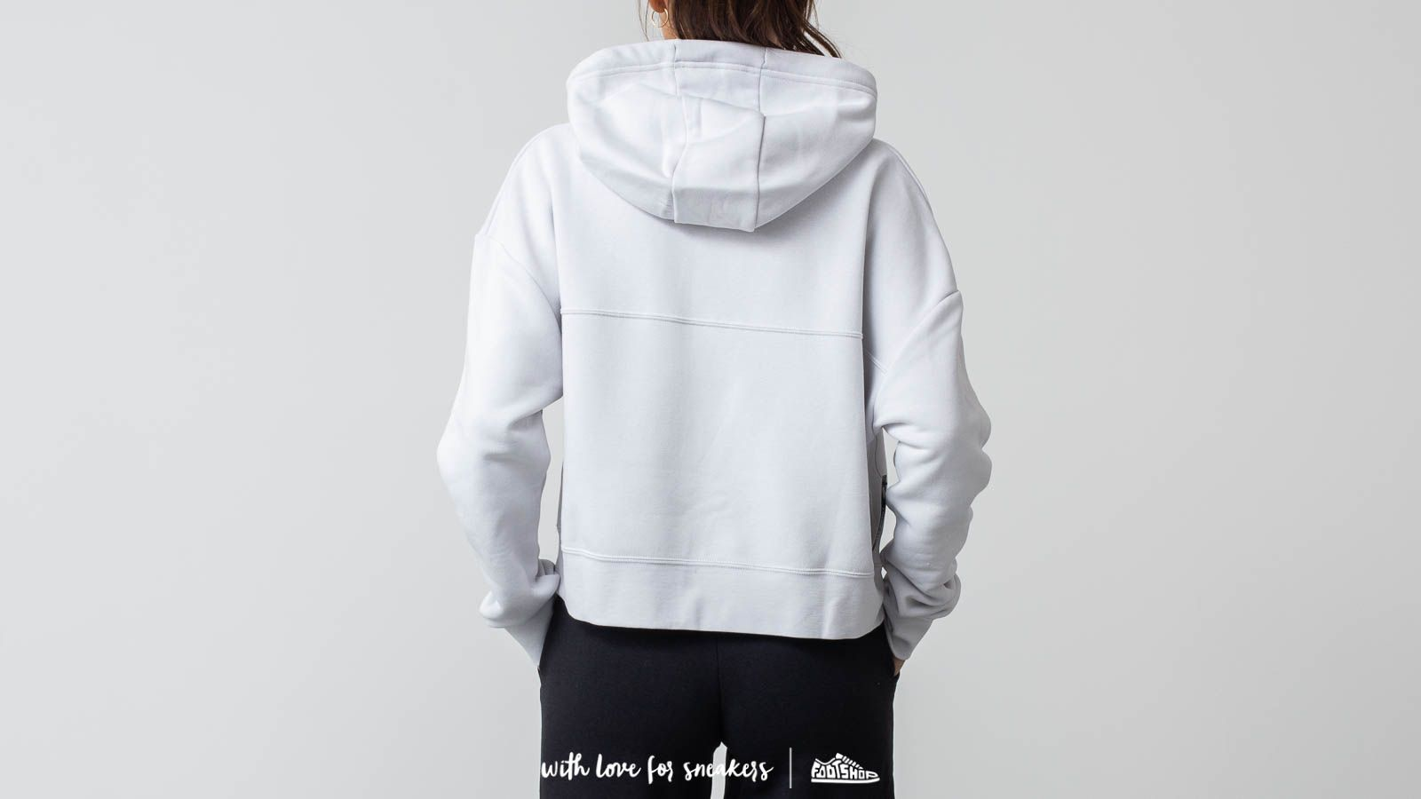 c6fdef6059acb Nike Sportswear Rally Women s Metallic Pullover Hoodie Light Grey at a great  price 66 € buy