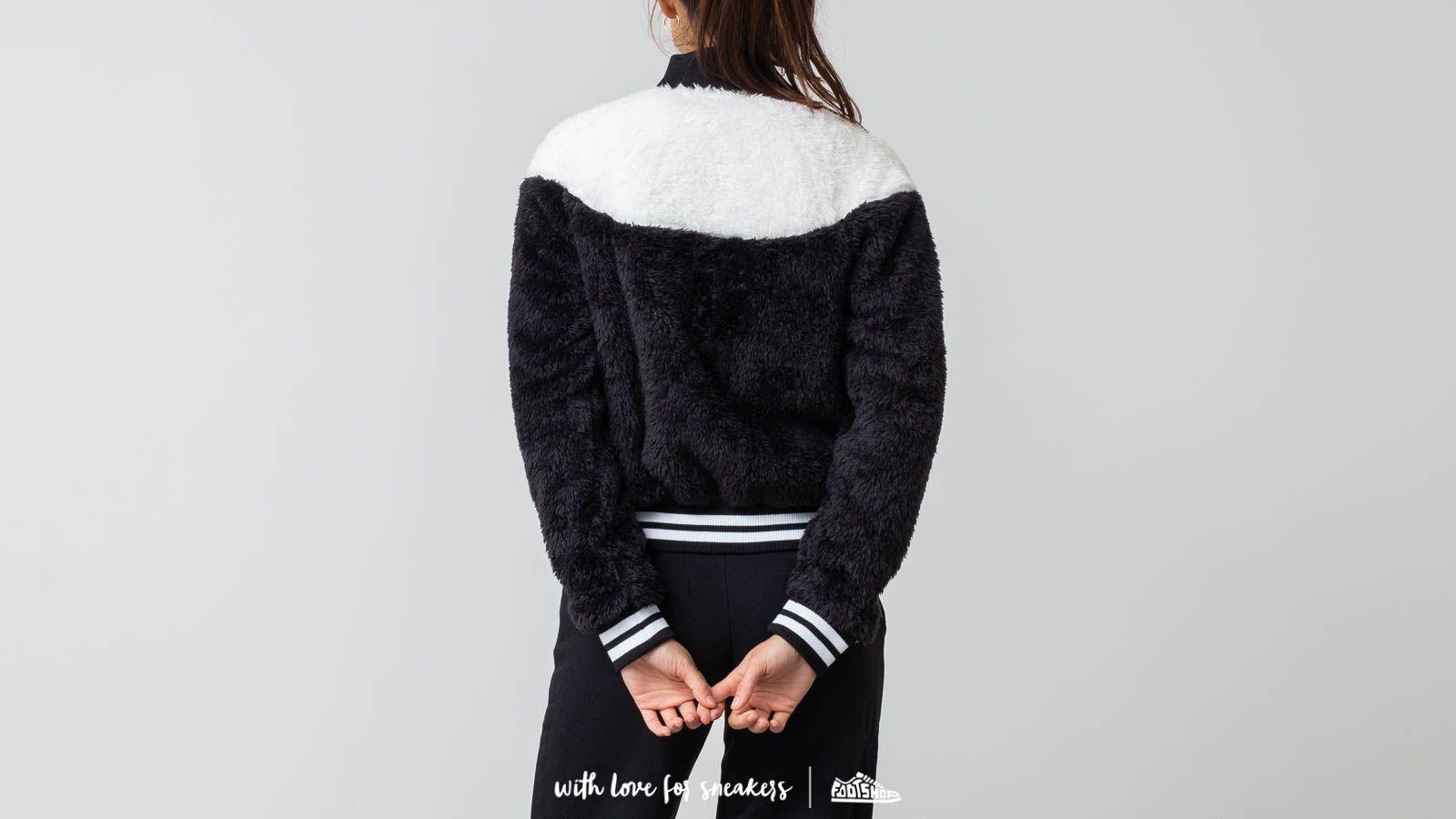 a128e9c32 Nike Sportswear Women's Sherpa Bomber Jacket Black/ White | Footshop